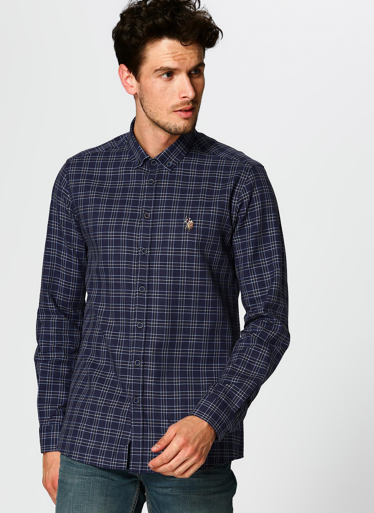U.S. Polo Assn. Kareli Lacivert Gömlek L 5001704703004 Ürün Resmi