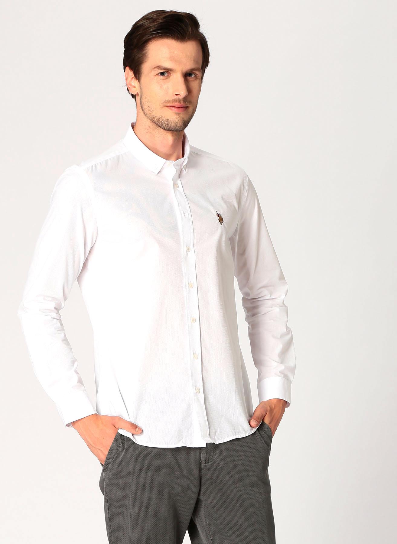U.S. Polo Assn. Beyaz Gömlek S 5001704709003 Ürün Resmi
