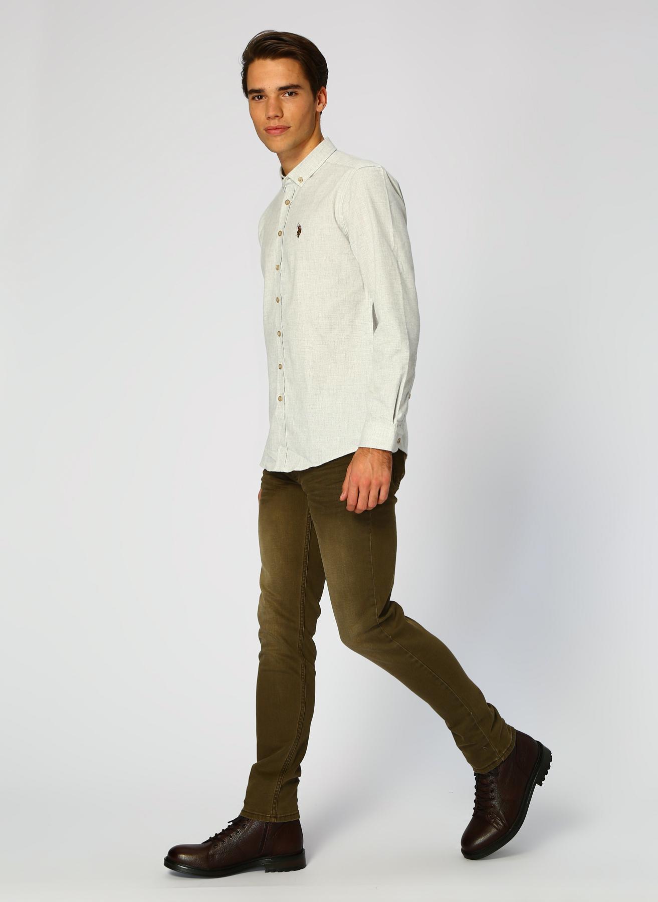 U.S. Polo Assn. Slim Fit Koyu Haki Denim Pantolon 29-32 5001704793007 Ürün Resmi