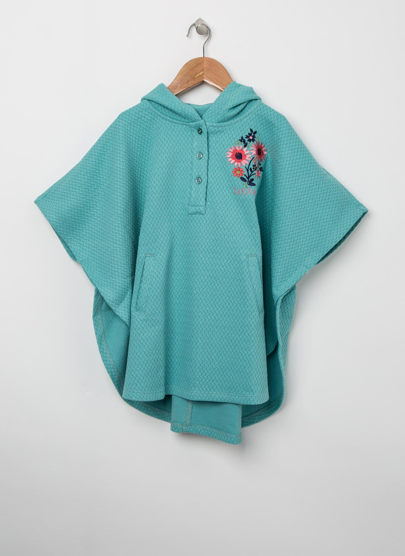 U.S. Polo Assn. Çiçek İşlemeli Yeşil Sweatshirt 3 Yaş 5001704797003 Ürün Resmi