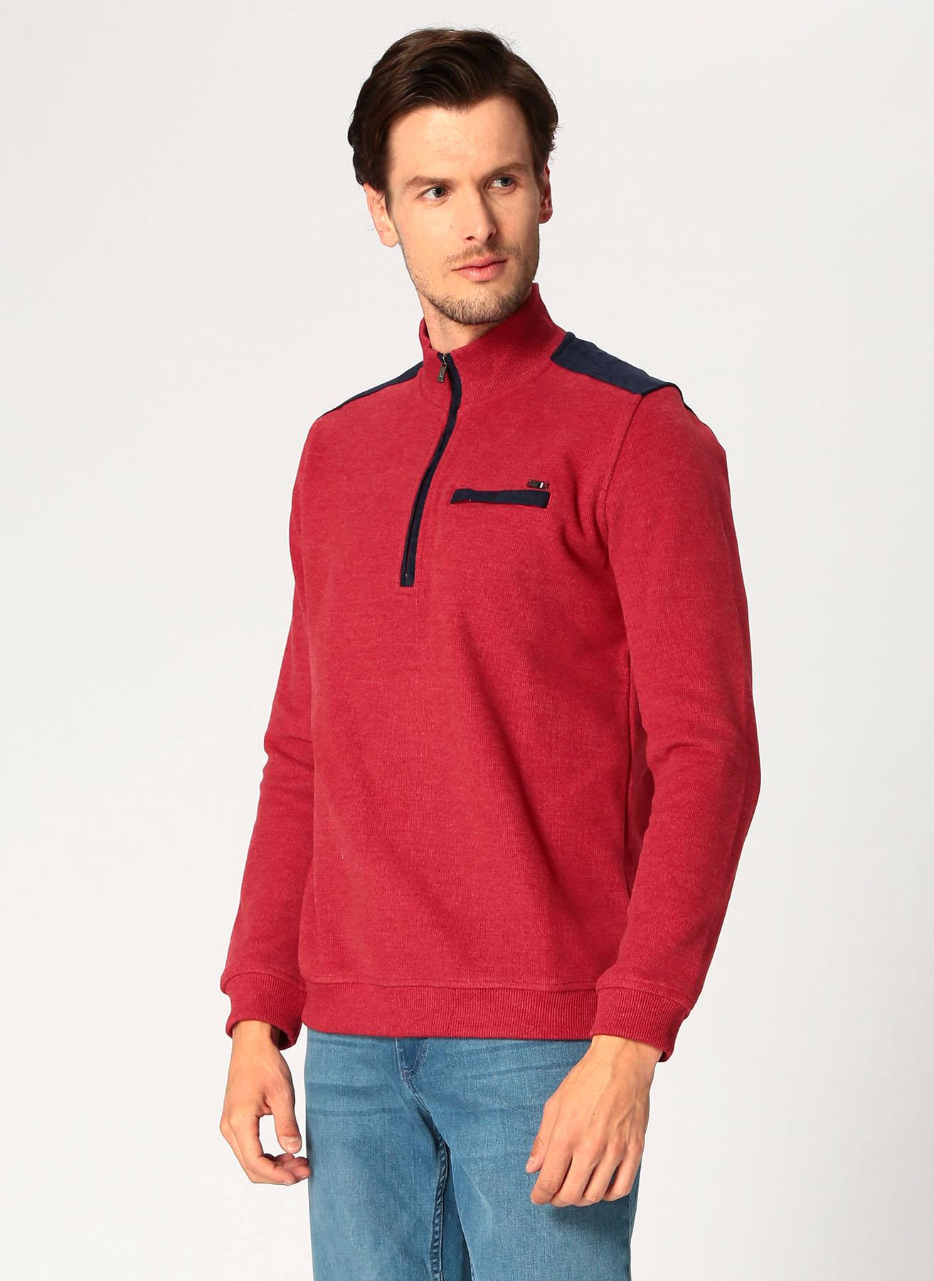U.S. Polo Assn. Şarap Sweatshirt M 5001704872002 Ürün Resmi