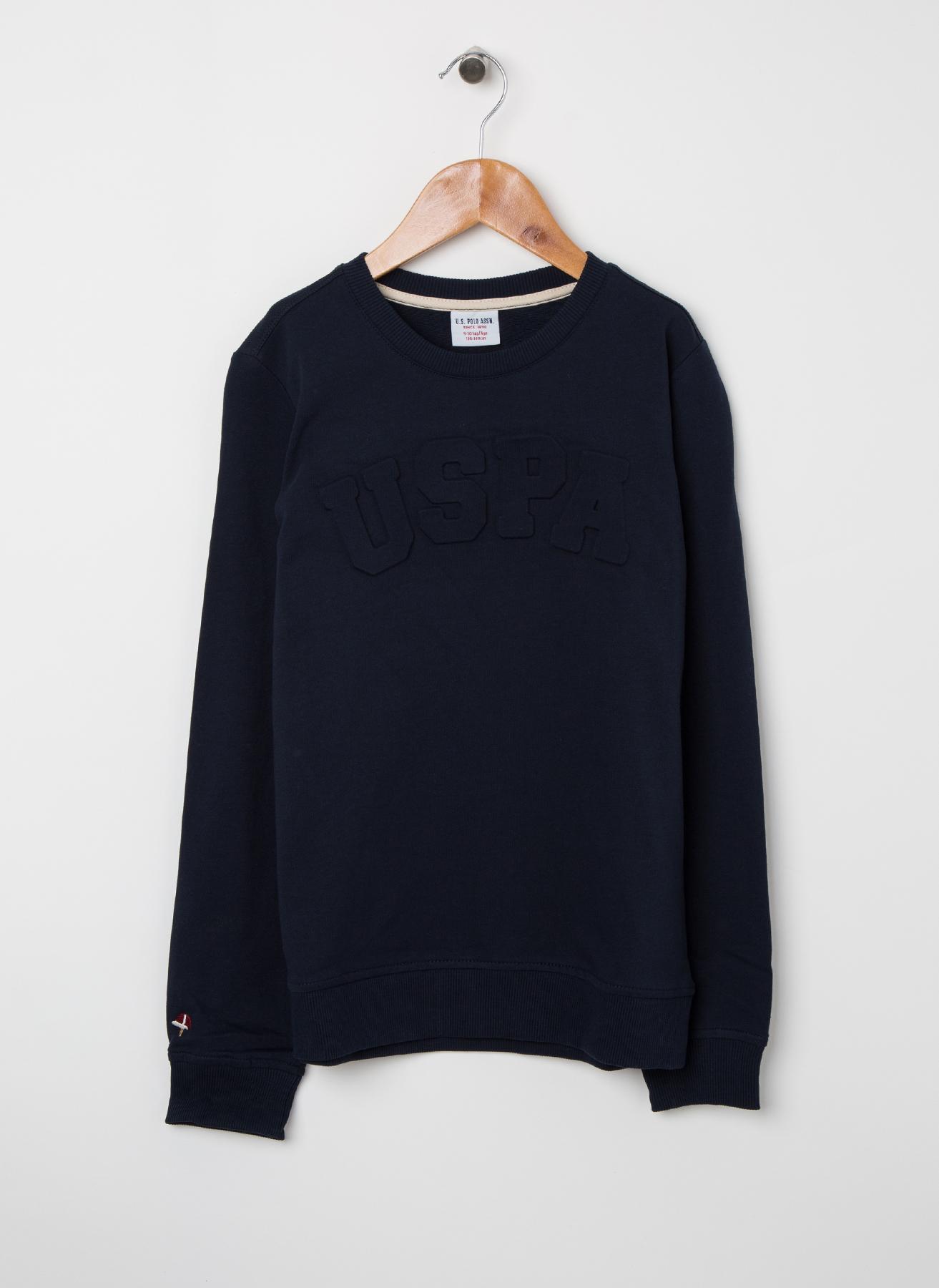 U.S. Polo Assn. Genç Erkek Kabartma Yazılı Lacivert Sweatshirt 5 Yaş 5001704886006 Ürün Resmi