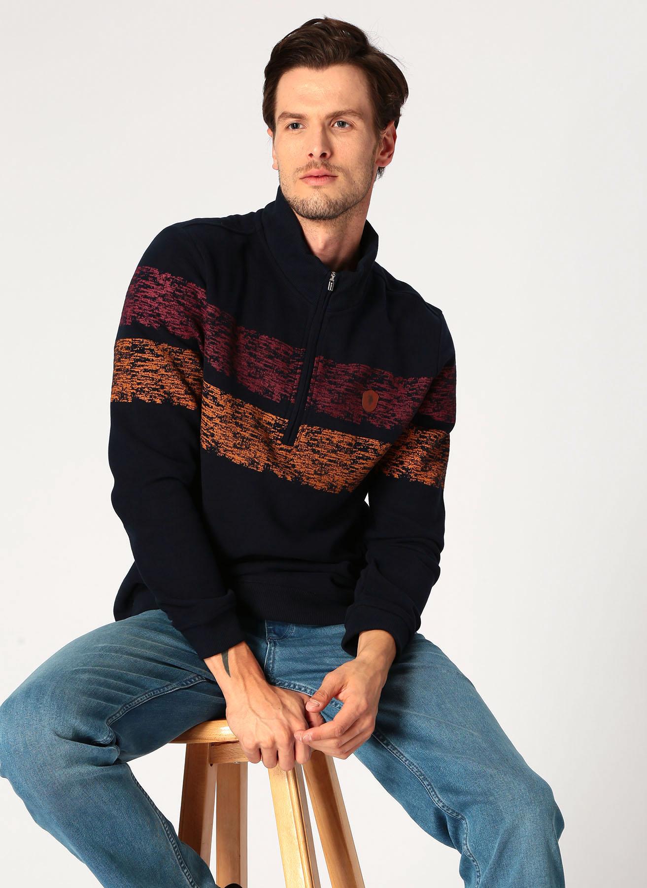U.S. Polo Assn. Koyu Lacivert Sweatshirt XL 5001704887002 Ürün Resmi