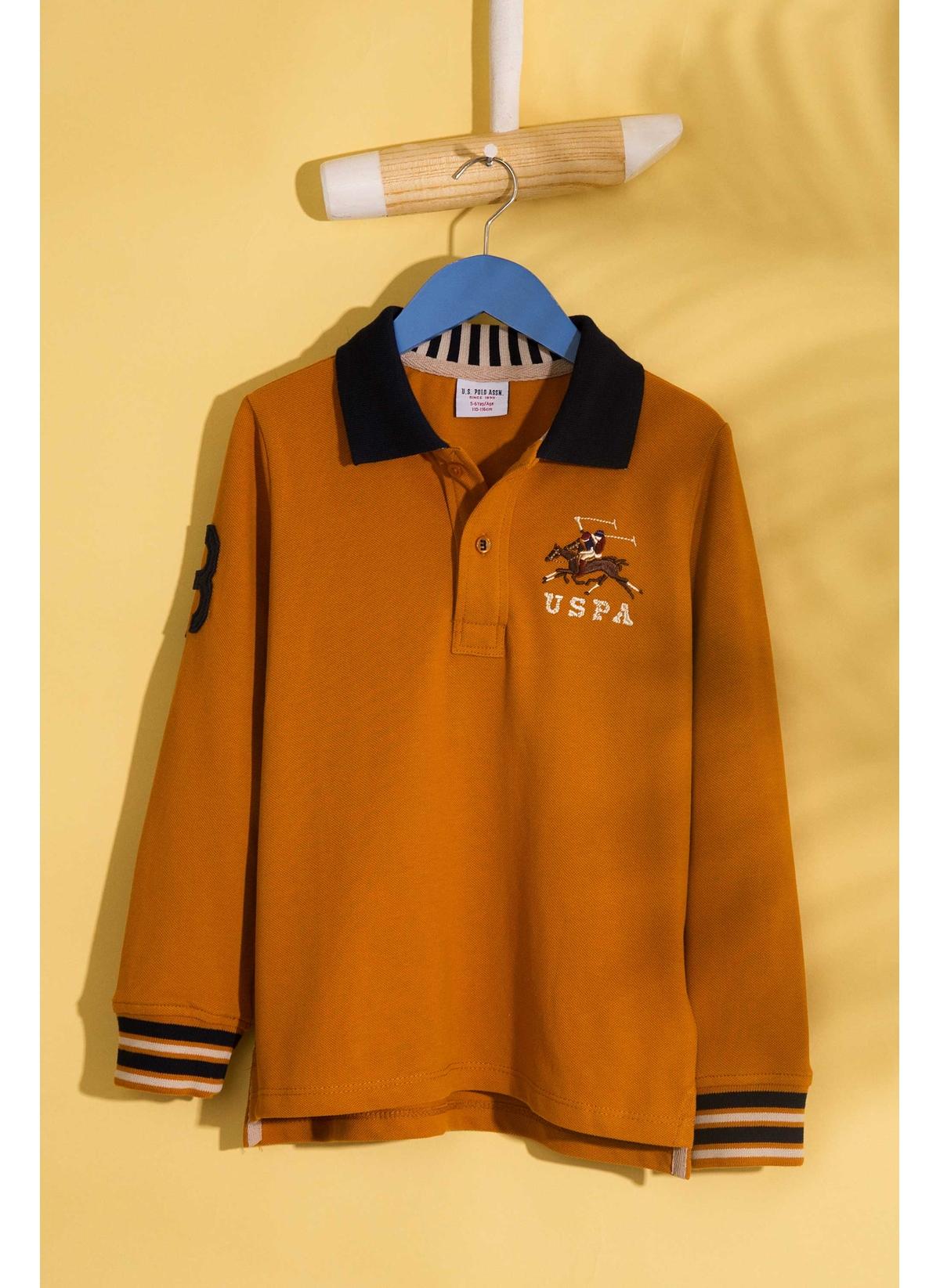 U.S. Polo Assn. Genç Erkek Polo Yaka Hardal Sweatshirt 13 Yaş 5001704911004 Ürün Resmi
