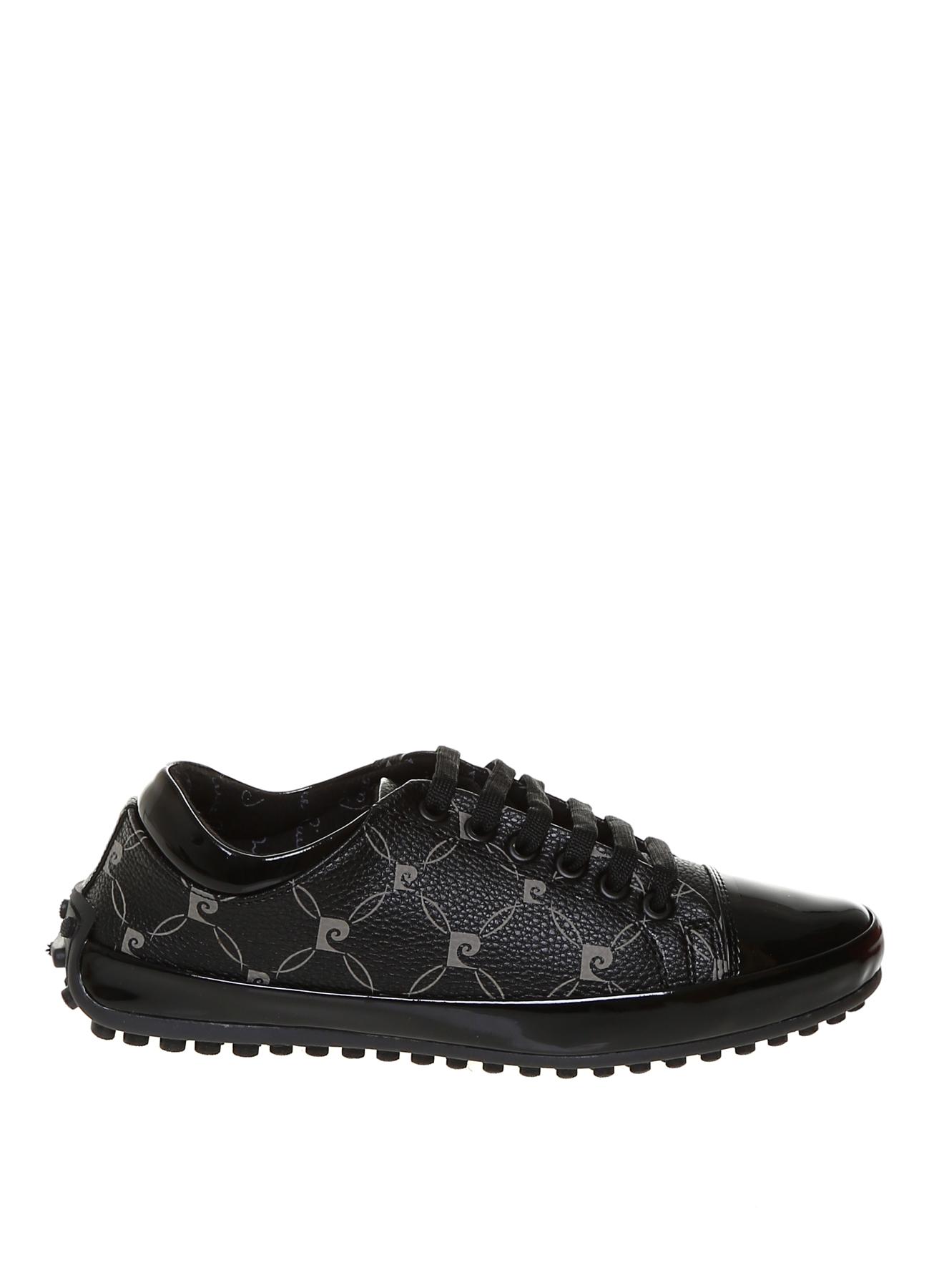 Pierre Cardin Kadın Monogramlı Siyah Düz Ayakkabı 36 5001705173001 Ürün Resmi