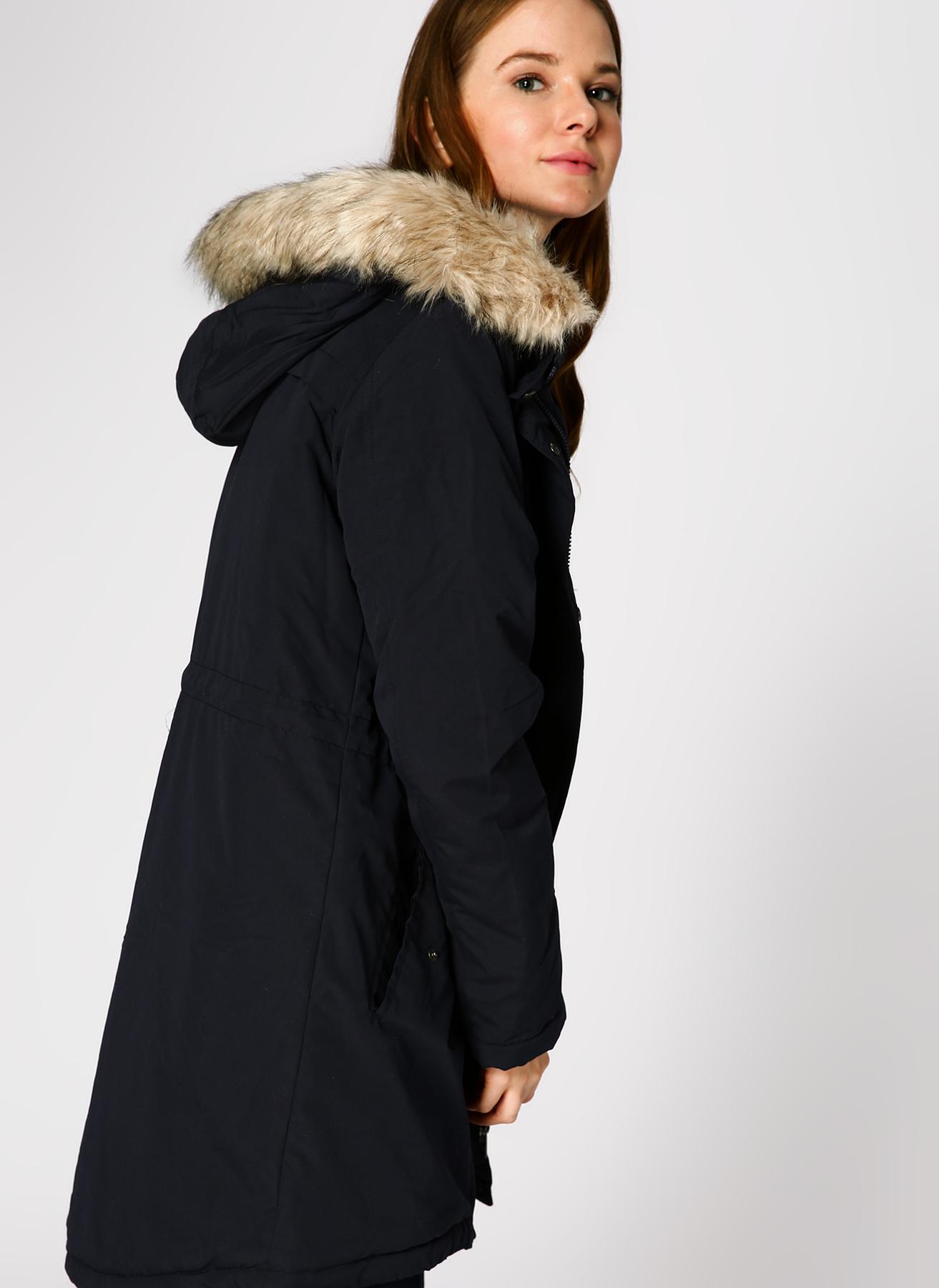 Vero Moda Kapüşonlu Lacivert Mont XS 5001705204004 Ürün Resmi
