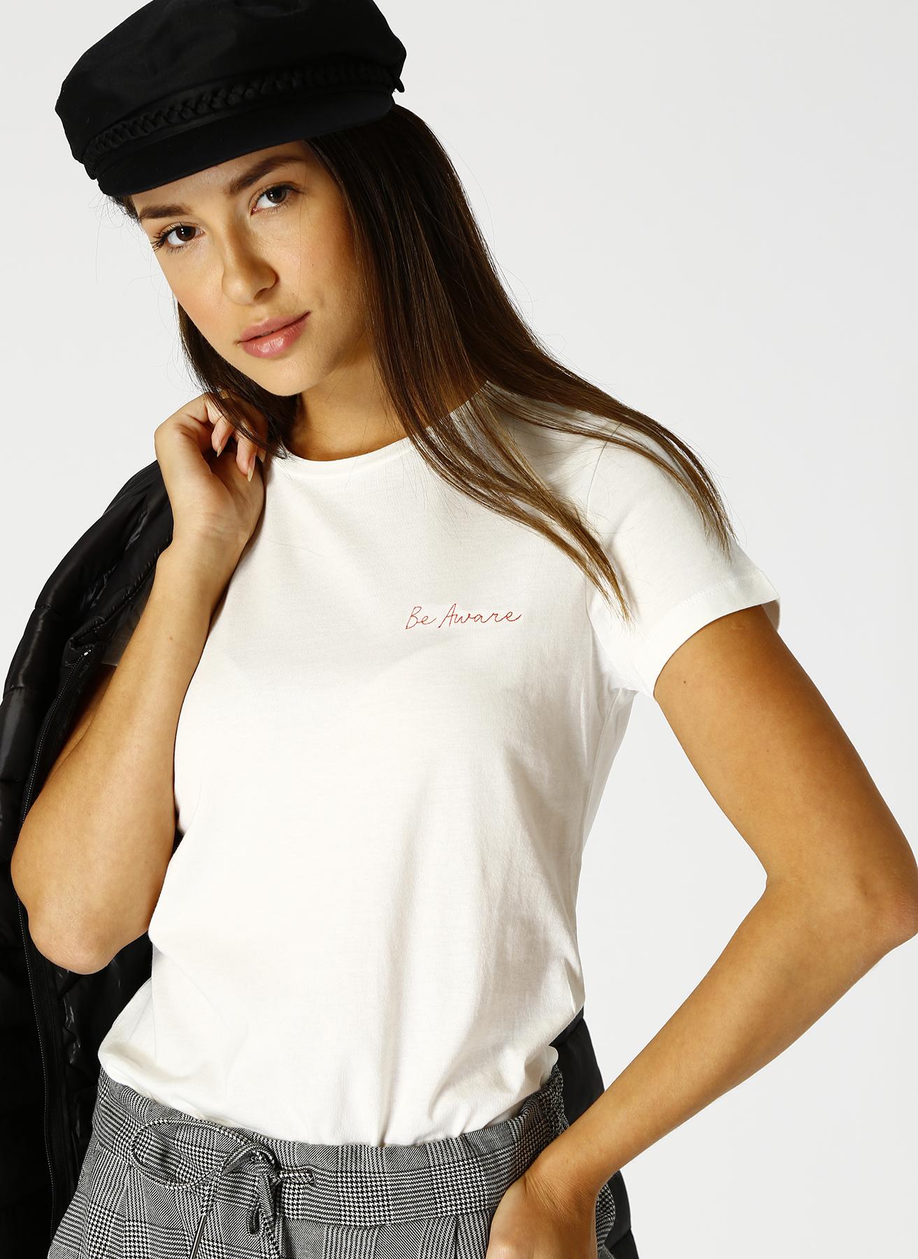 Vero Moda Beyaz T-Shirt S 5001705231003 Ürün Resmi