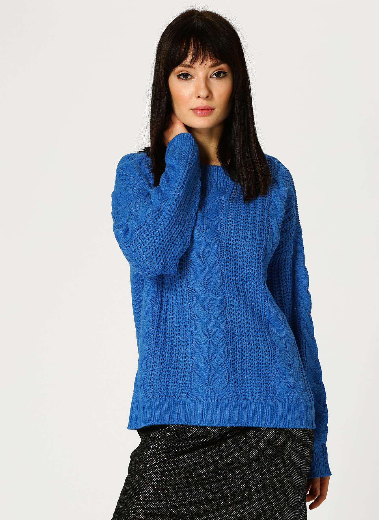 Vero Moda Mavi Örgü Kazak XS 5001705277005 Ürün Resmi