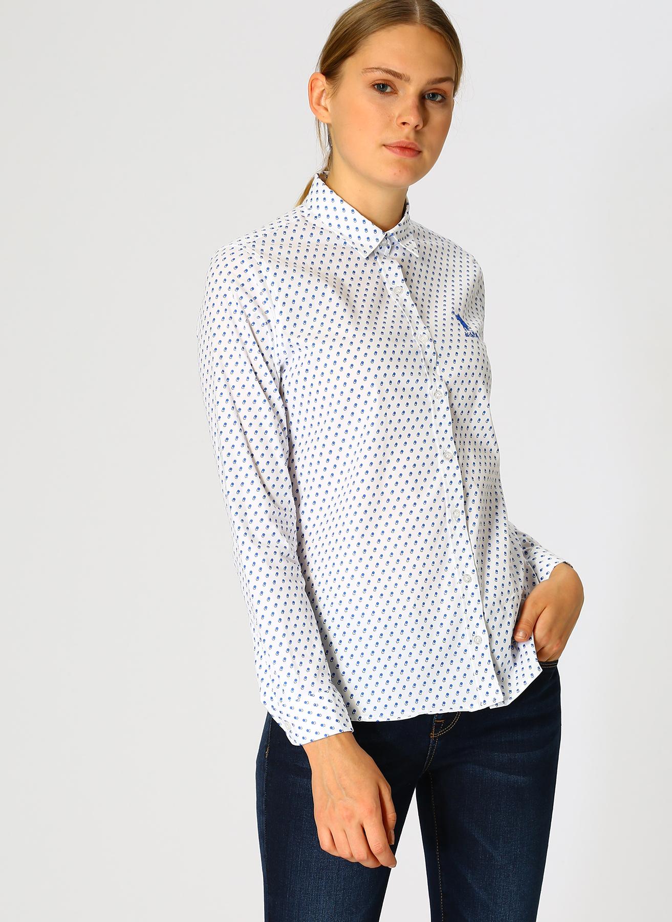 U.S. Polo Assn. Beyaz Gömlek 44 5001733225007 Ürün Resmi