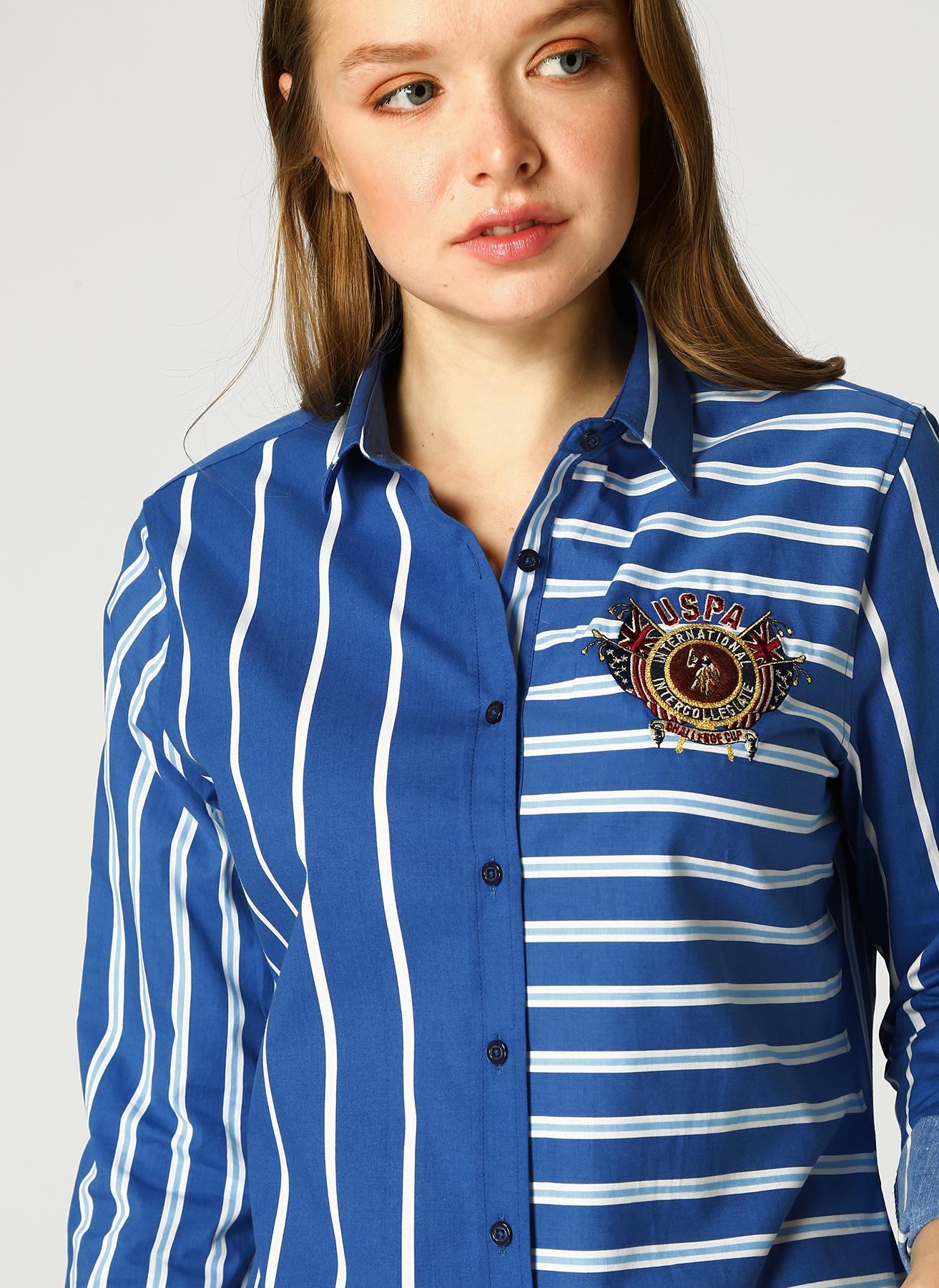 U.S. Polo Assn. Çizgili Lacivert Gömlek 34 5001733309004 Ürün Resmi
