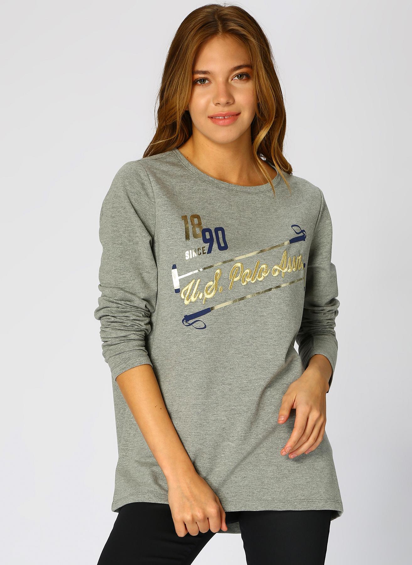 U.S. Polo Assn. Yazılı Füme Sweatshirt M 5001733835002 Ürün Resmi