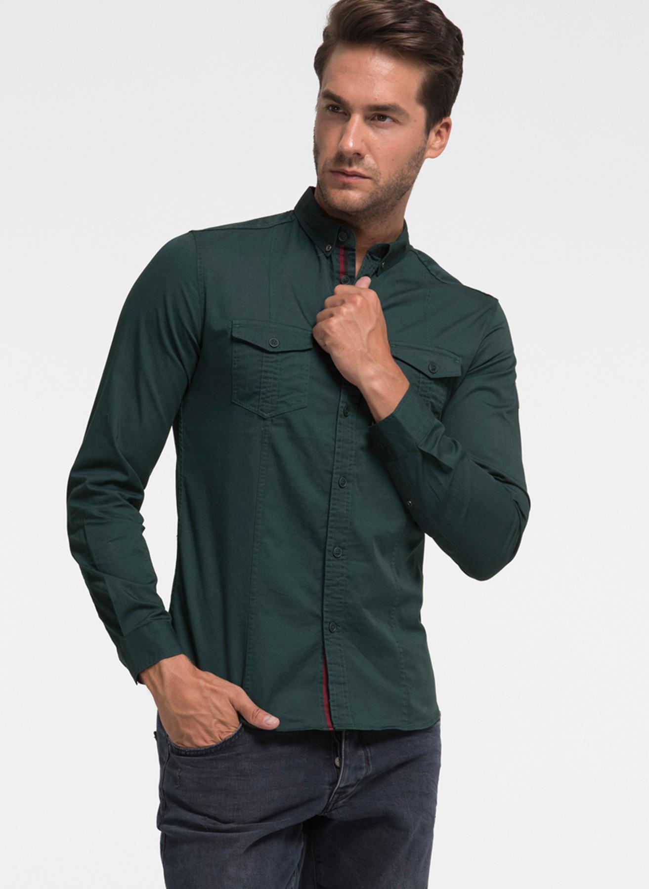 Loft Armalı Yeşil Gömlek 2XL 5001733907005 Ürün Resmi