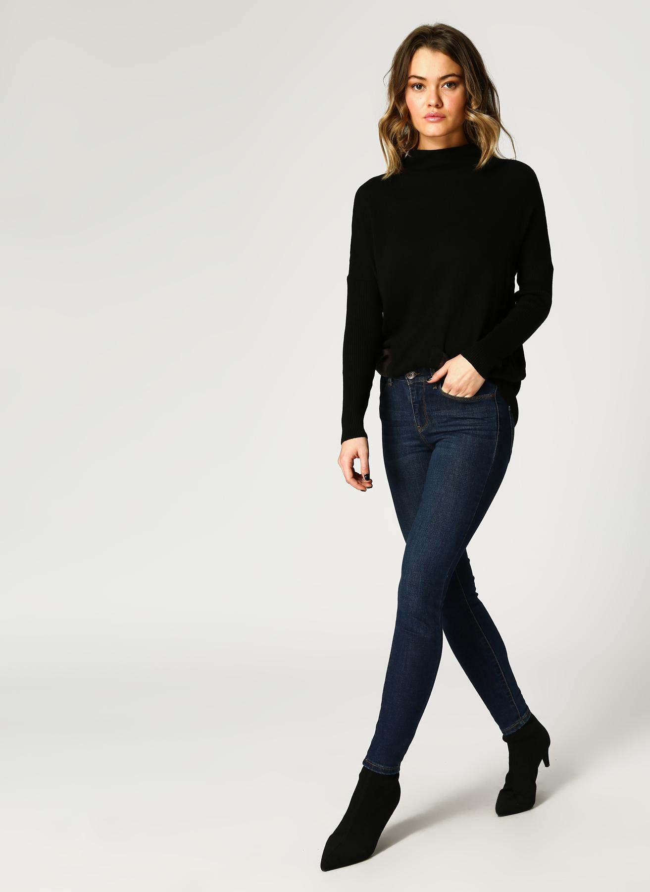 Vero Moda Mid Rise Slim Koyu Mavi Denim Pantolon 32-32 5001820895002 Ürün Resmi