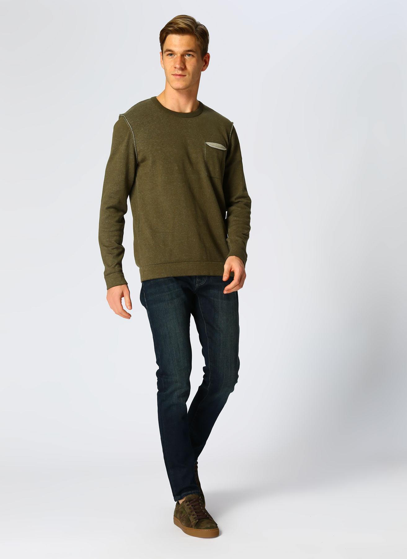 Mavi Renksiz Klasik Pantolon 29-30 5001822945014 Ürün Resmi
