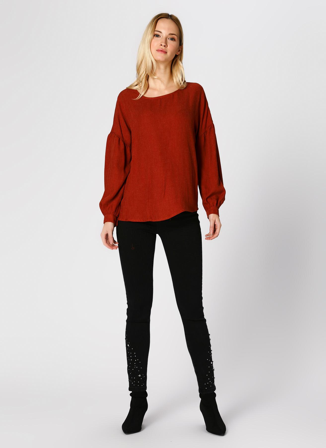 Koton Taş İşlemeli Skinny Siyah Pantolon 25 5001823754001 Ürün Resmi