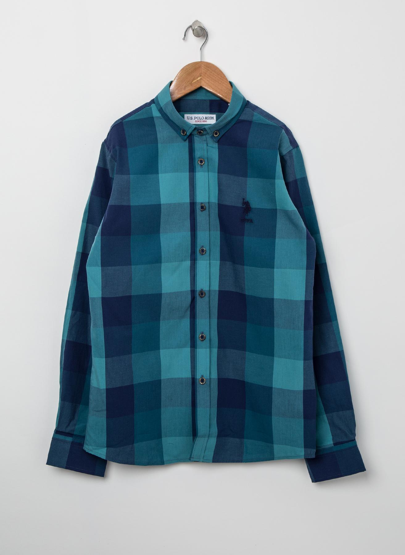 U.S. Polo Assn. Ekose Yeşil Gömlek 60 5001823825001 Ürün Resmi