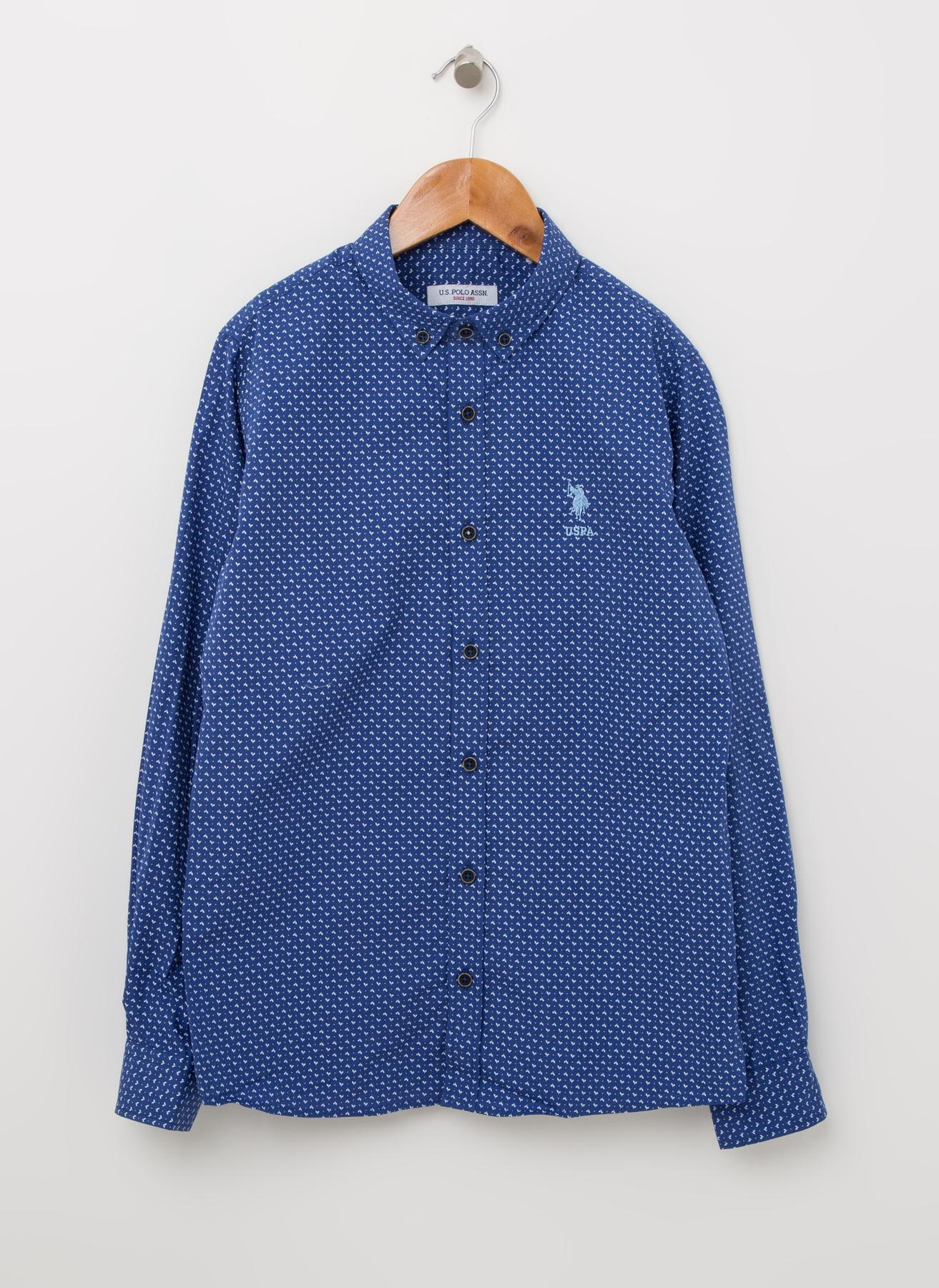 U.S. Polo Assn. Desenli Mavi Gömlek 13 Yaş 5001823832003 Ürün Resmi