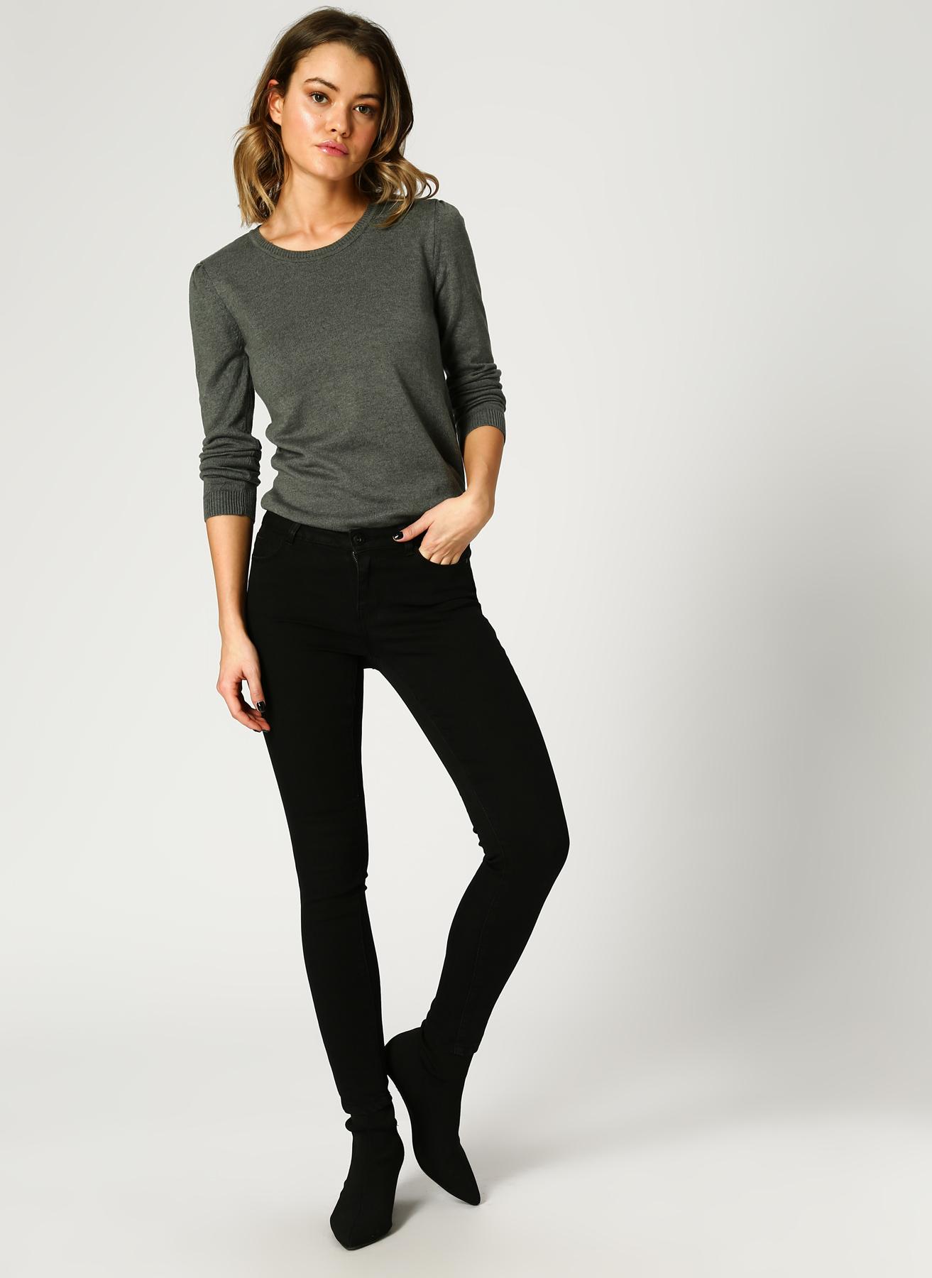 Vero Moda Mid Rise Slim Siyah Denim Pantolon 30-32 5001823848002 Ürün Resmi