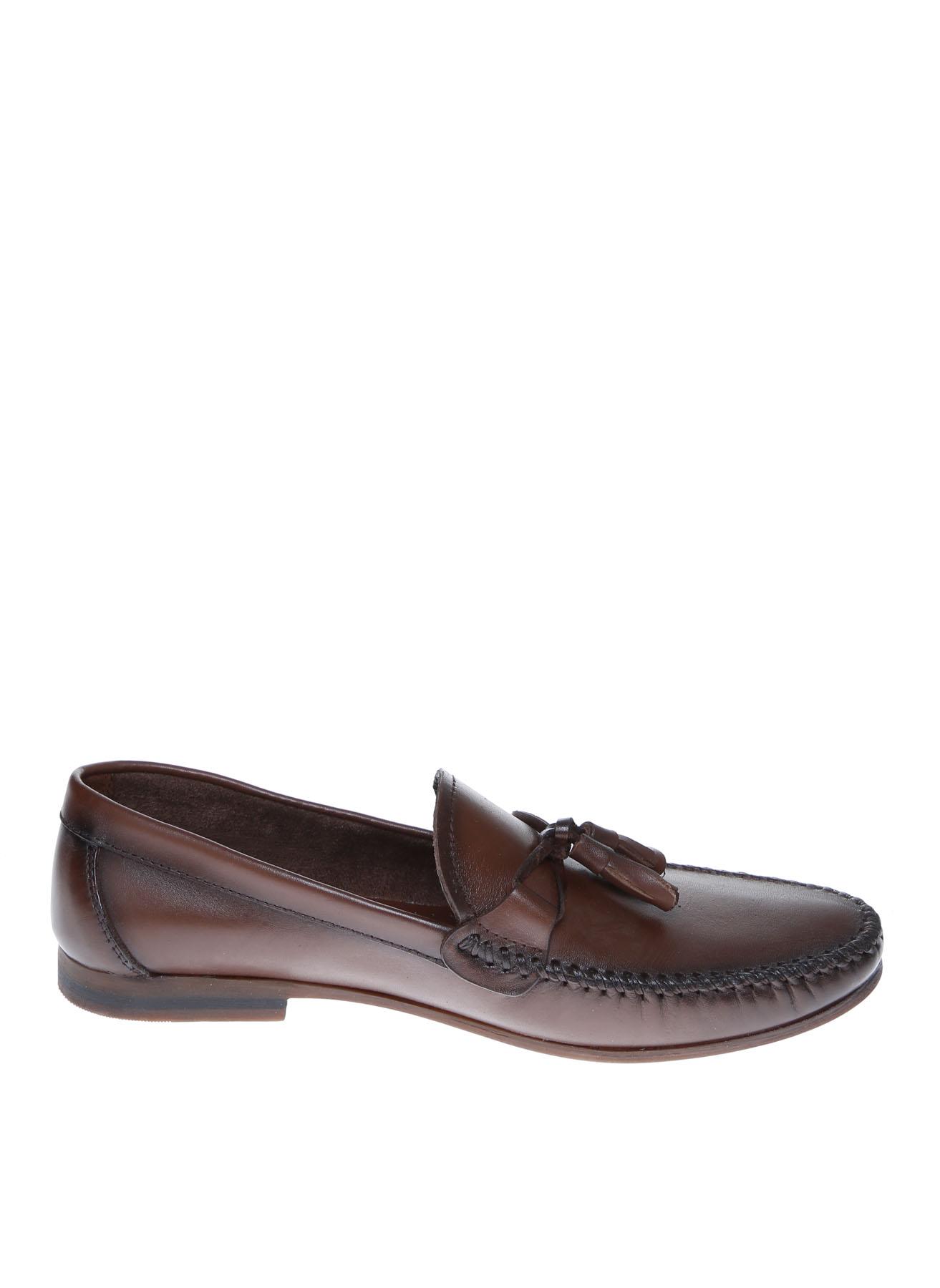 Cotton Bar Erkek Kahverengi Deri Klasik Ayakkabı 42 5001909577003 Ürün Resmi