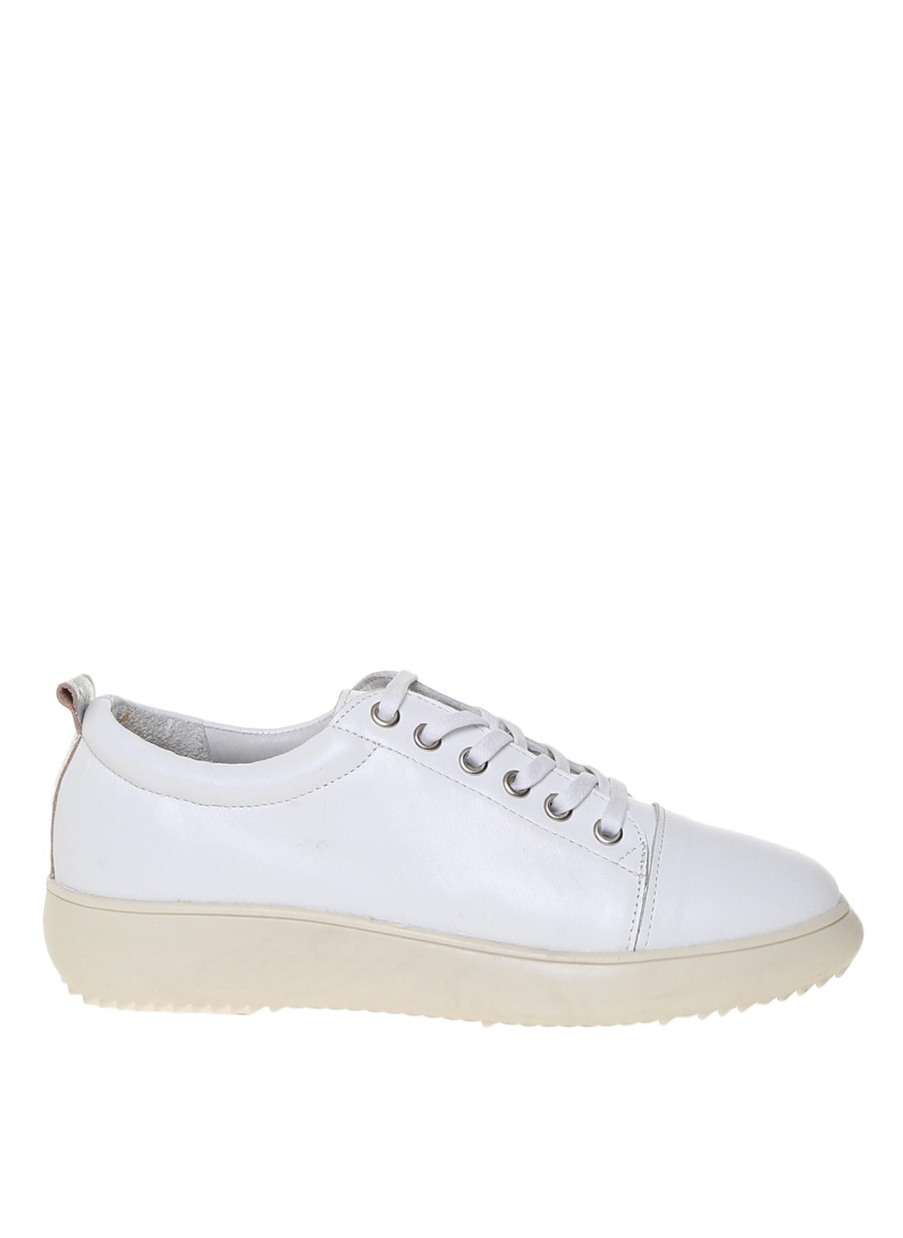 Penford Kadın Deri Beyaz Düz Ayakkabı 37 5001909804002 Ürün Resmi