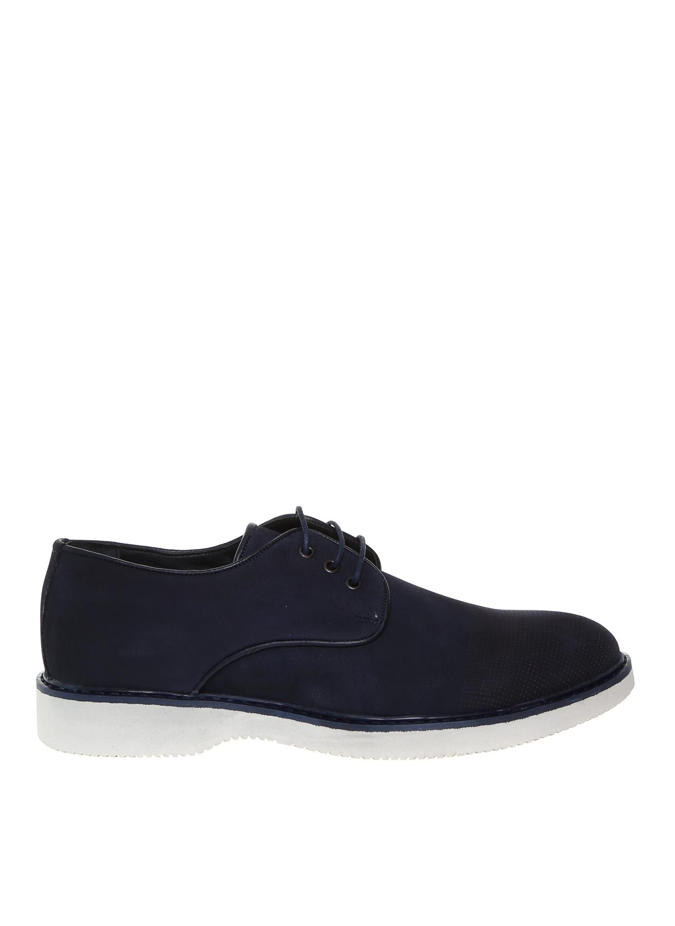 44 Koyu Lacivert Fabrika Erkek Nubuk Klasik Ayakkabı 5001909946005 & Çanta