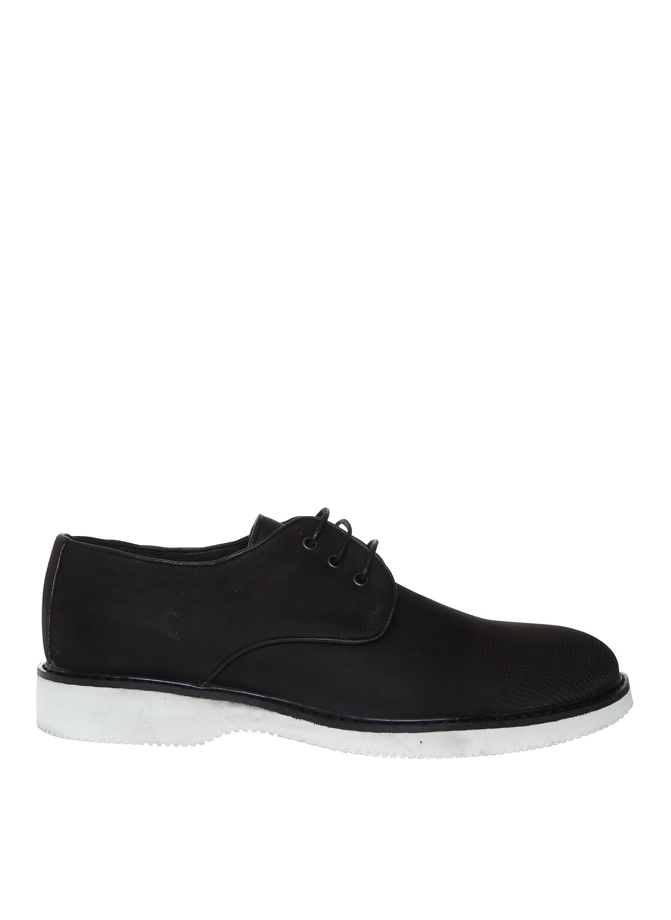 40 Siyah Fabrika Erkek Nubuk Klasik Ayakkabı 5001909947001 & Çanta