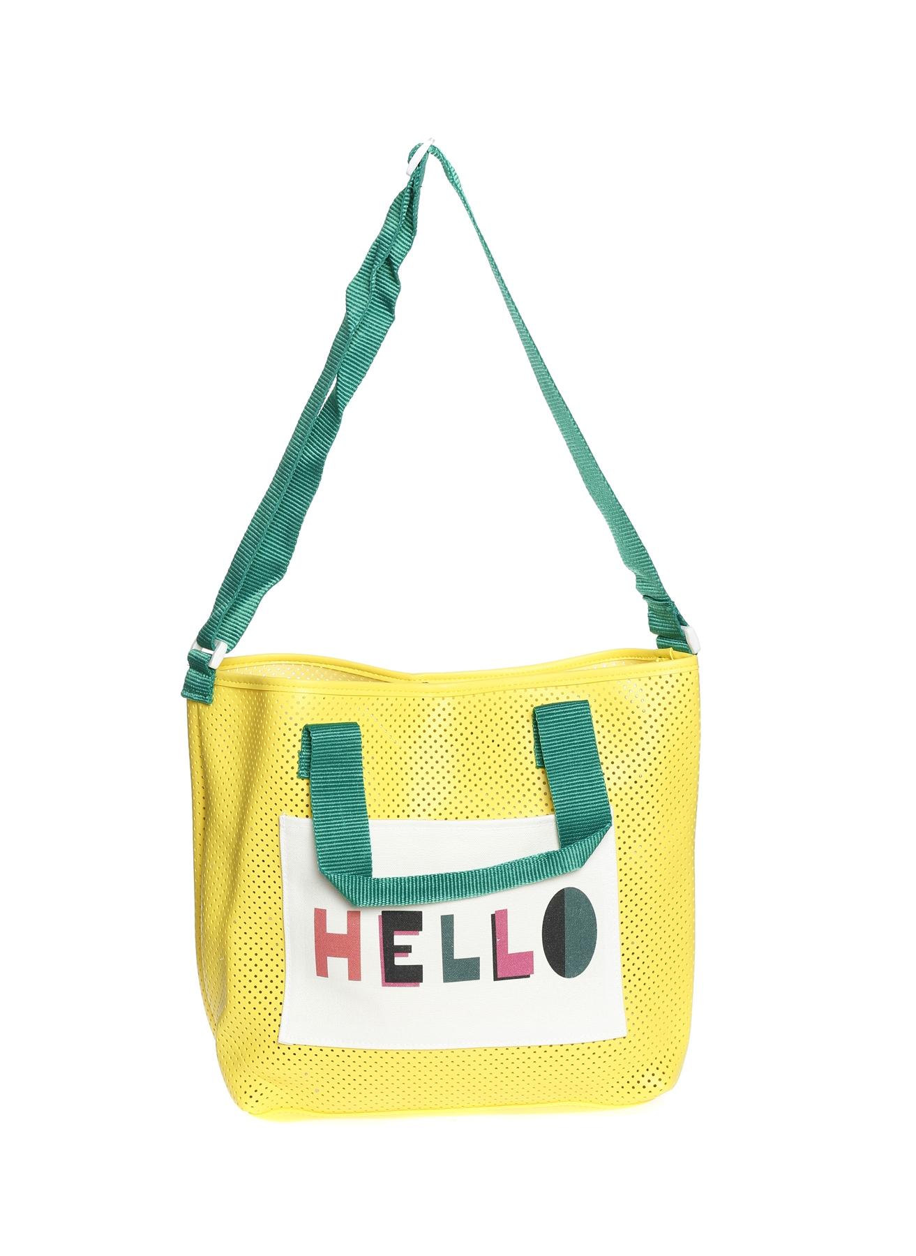 Sarı Koton Plaj Çantası 5001916331001 Kadın Giyim
