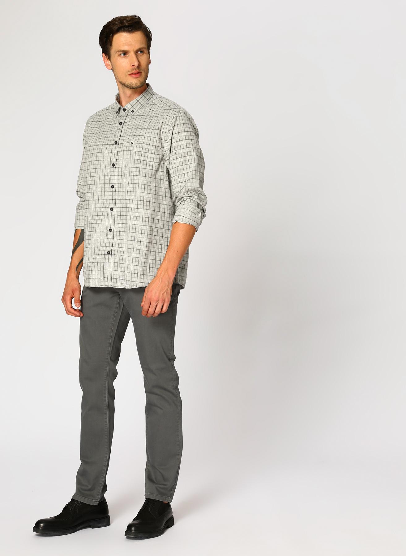George Hogg Gri Klasik Pantolon 5001918295001 Ürün Resmi