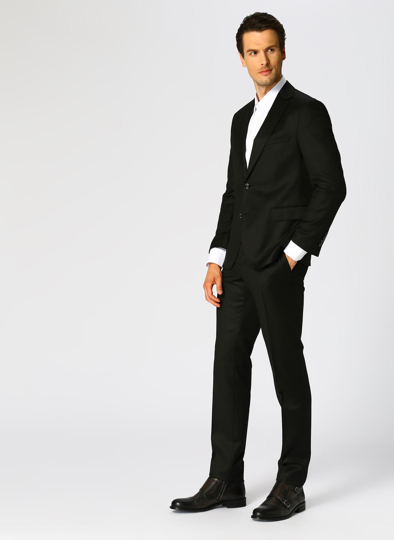 George Hogg Yün Siyah Takım Elbise L 5001920785001 Ürün Resmi