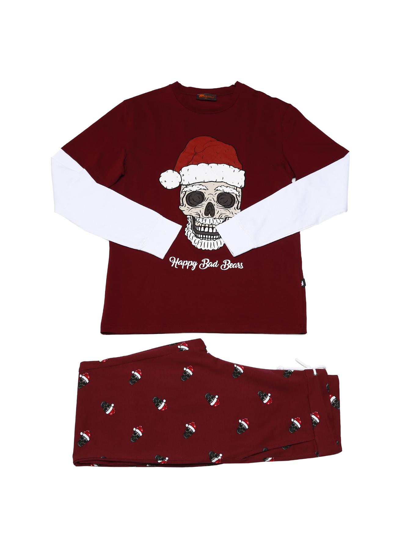 Bad Bear Kurukafa Desenli Pijama Takımı XL 5001955481004 Ürün Resmi