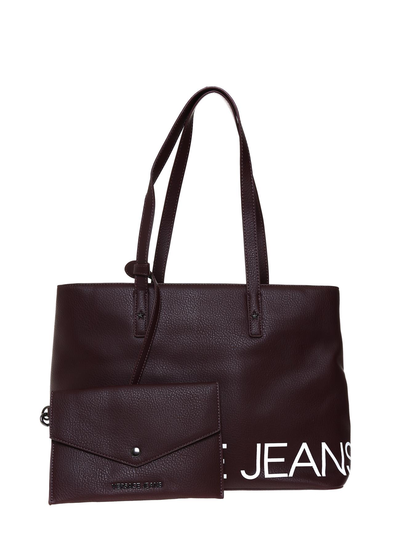 Versace Jeans Yazılı Bordo El Çantası 5001976397001 Ürün Resmi
