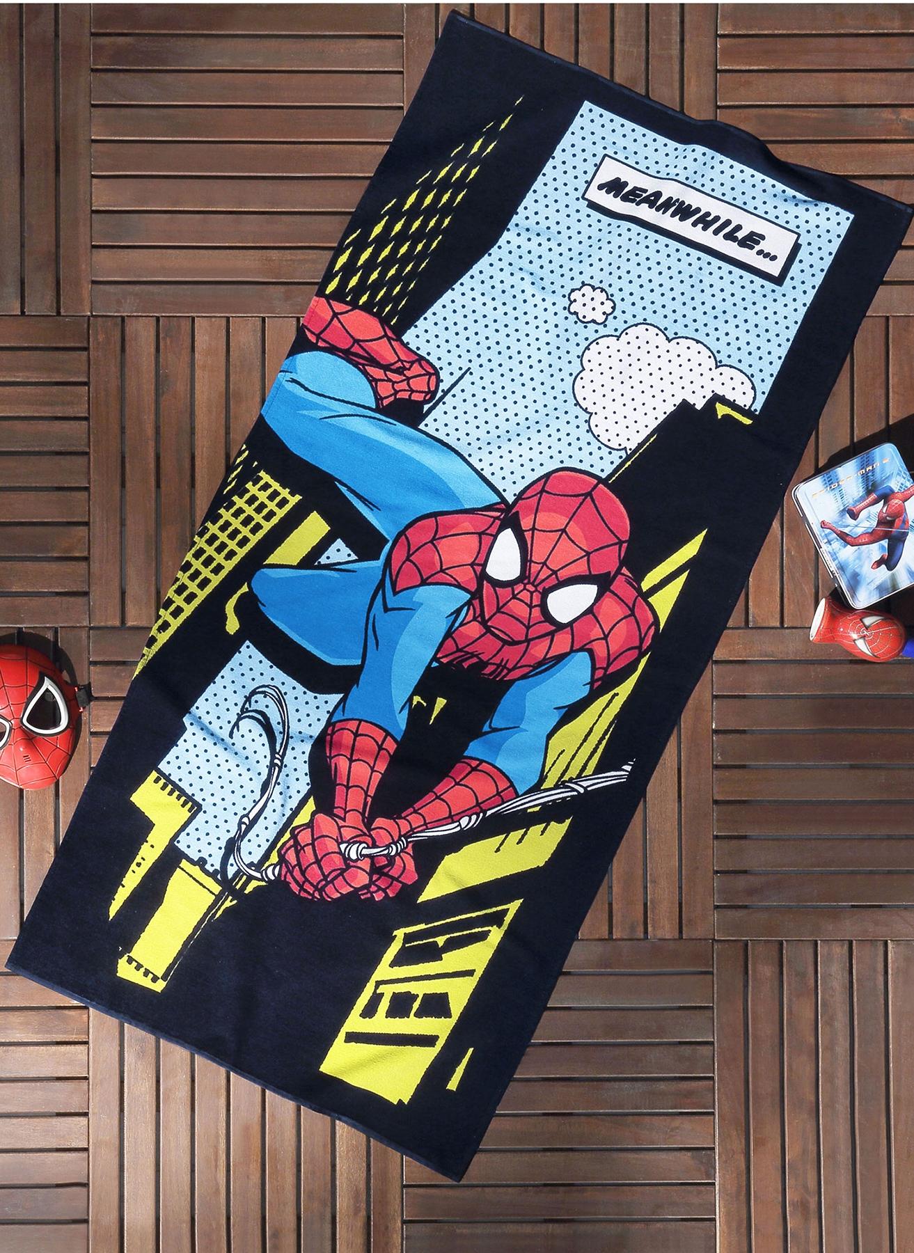 unisex Renksiz Taç Spiderman Comics 75x150 Plaj Havlusu 5002007383001 Ev Banyo Ürünleri & Bornoz