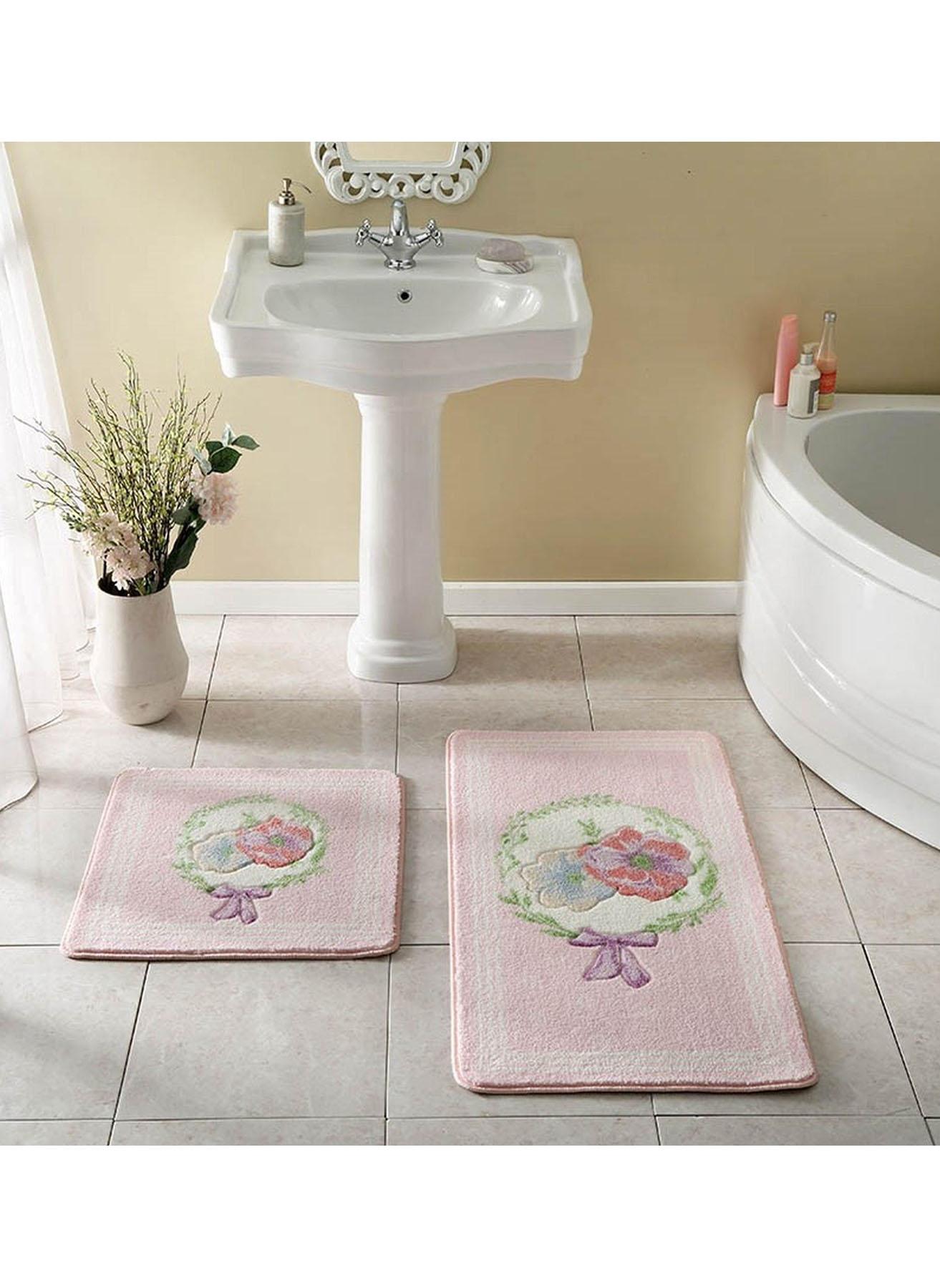 unisex Renksiz Taç Ginger 2'li Baskılı Paspas 5002007388001 Ev Banyo Ürünleri