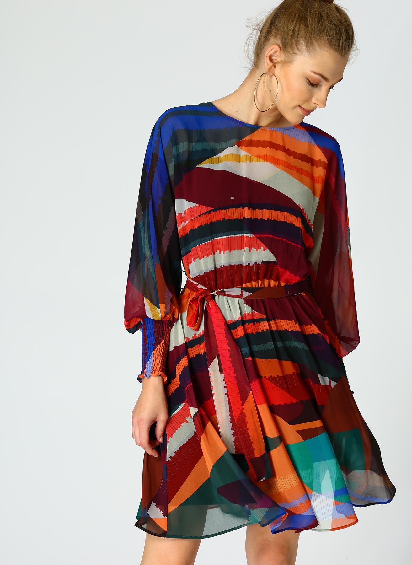 Random Multi Renkli Elbise 40 5002300611004 Ürün Resmi