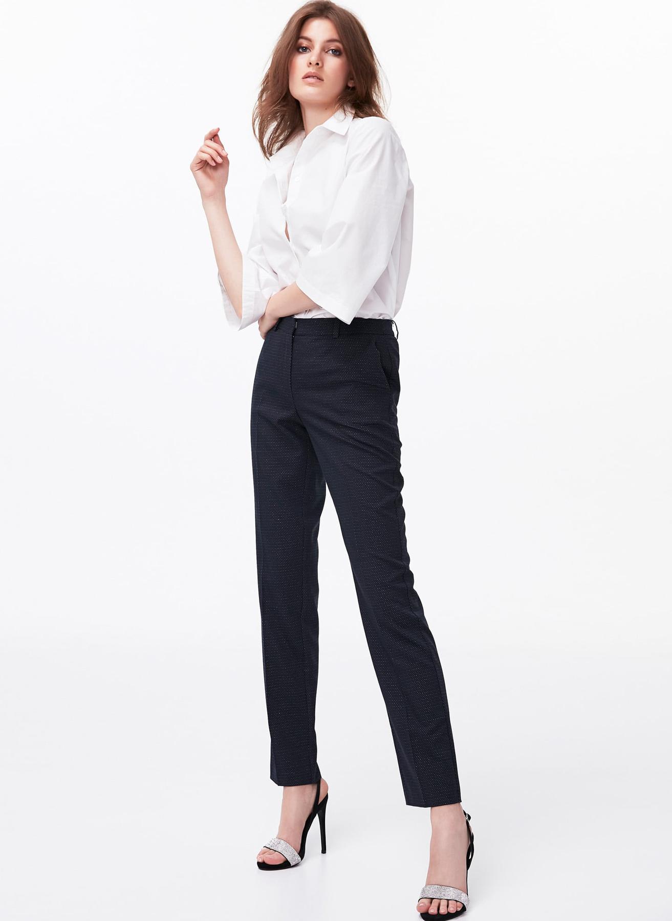 İpekyol Desenli Lacivert Pantolon 42 5002301068005 Ürün Resmi