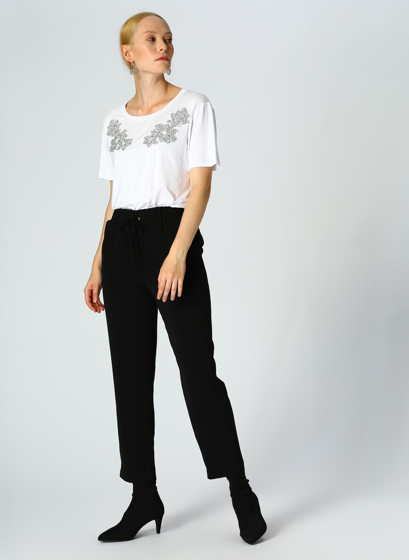 İpekyol Drapey Siyah Pantolon 38 5002301084003 Ürün Resmi