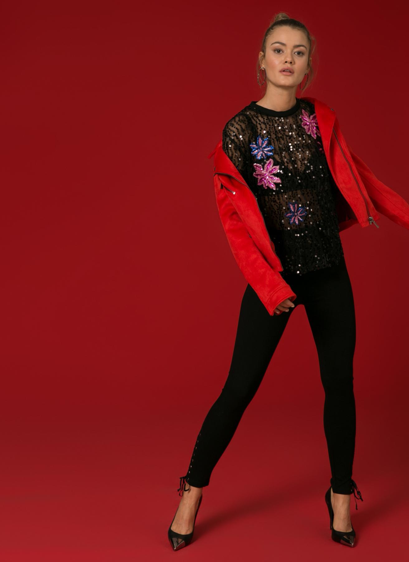 İpekyol Kuş Gözlü Skinny Siyah Pantolon 36 5002301091002 Ürün Resmi