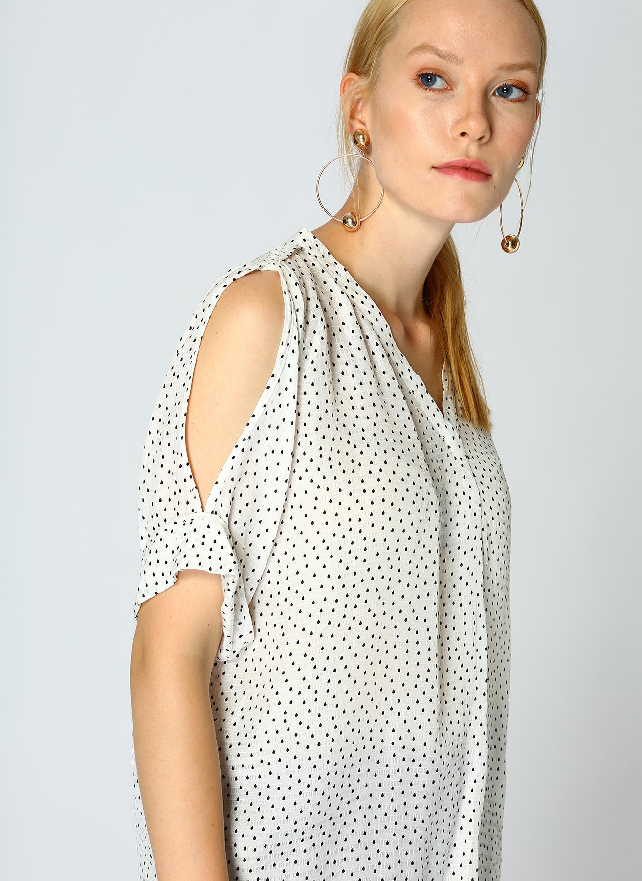 İpekyol Omuz Dekolteli Beyaz Bluz 38 5002301143003 Ürün Resmi