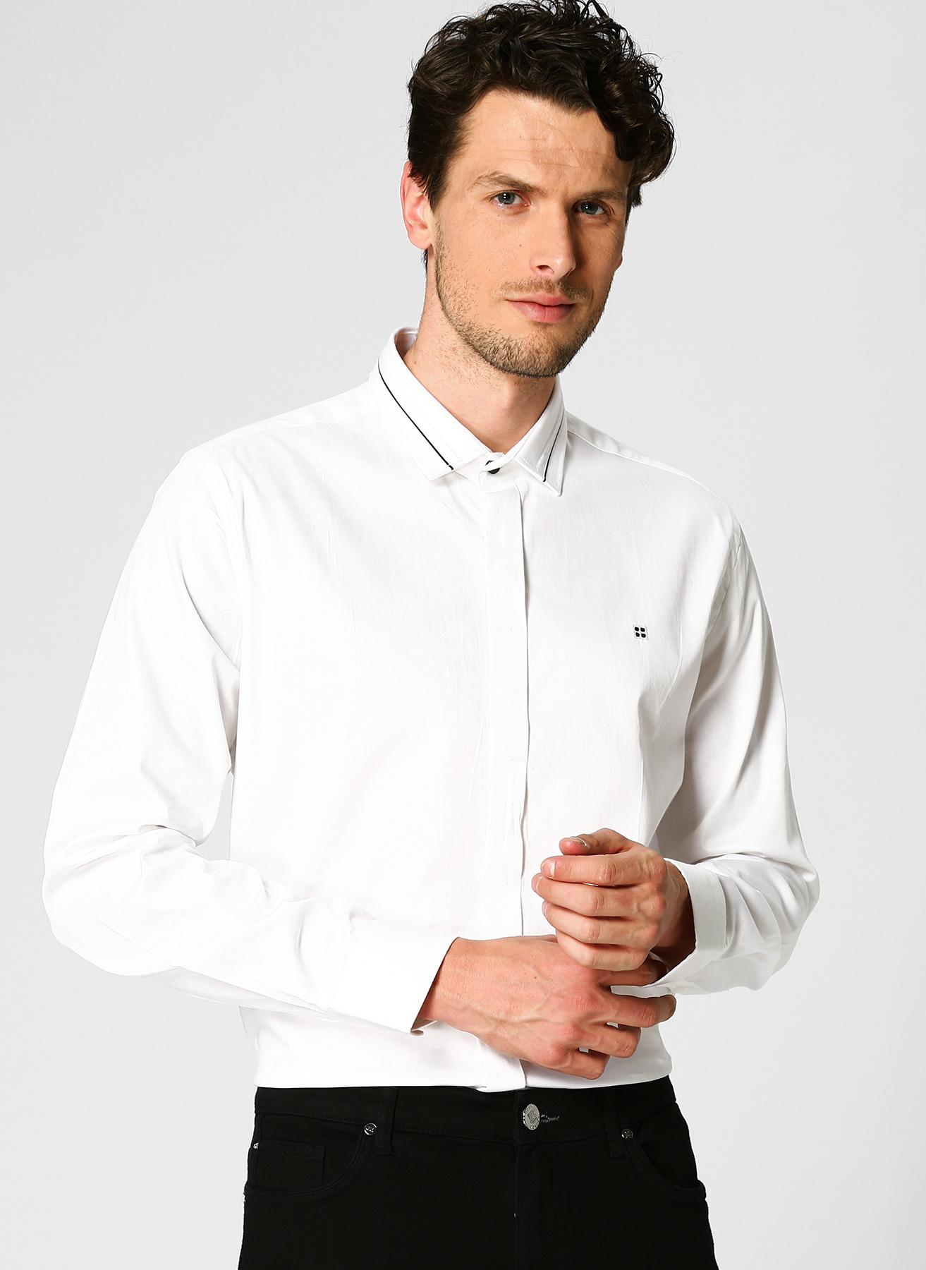 Avva Slim Fit Beyaz Gömlek 2XL 5002301229005 Ürün Resmi