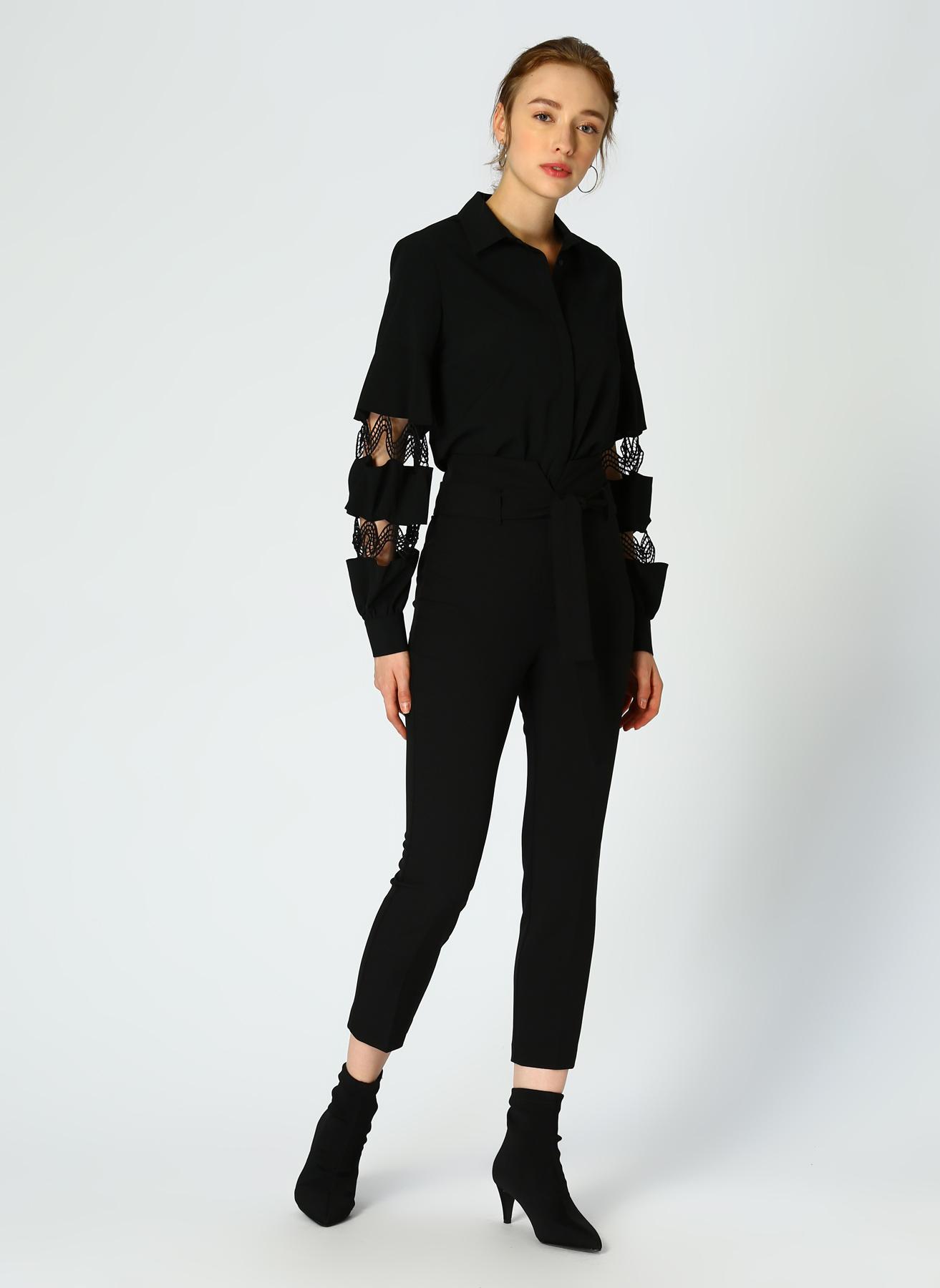 Random Yüksek Bel Siyah Pantolon 34 5002309602001 Ürün Resmi