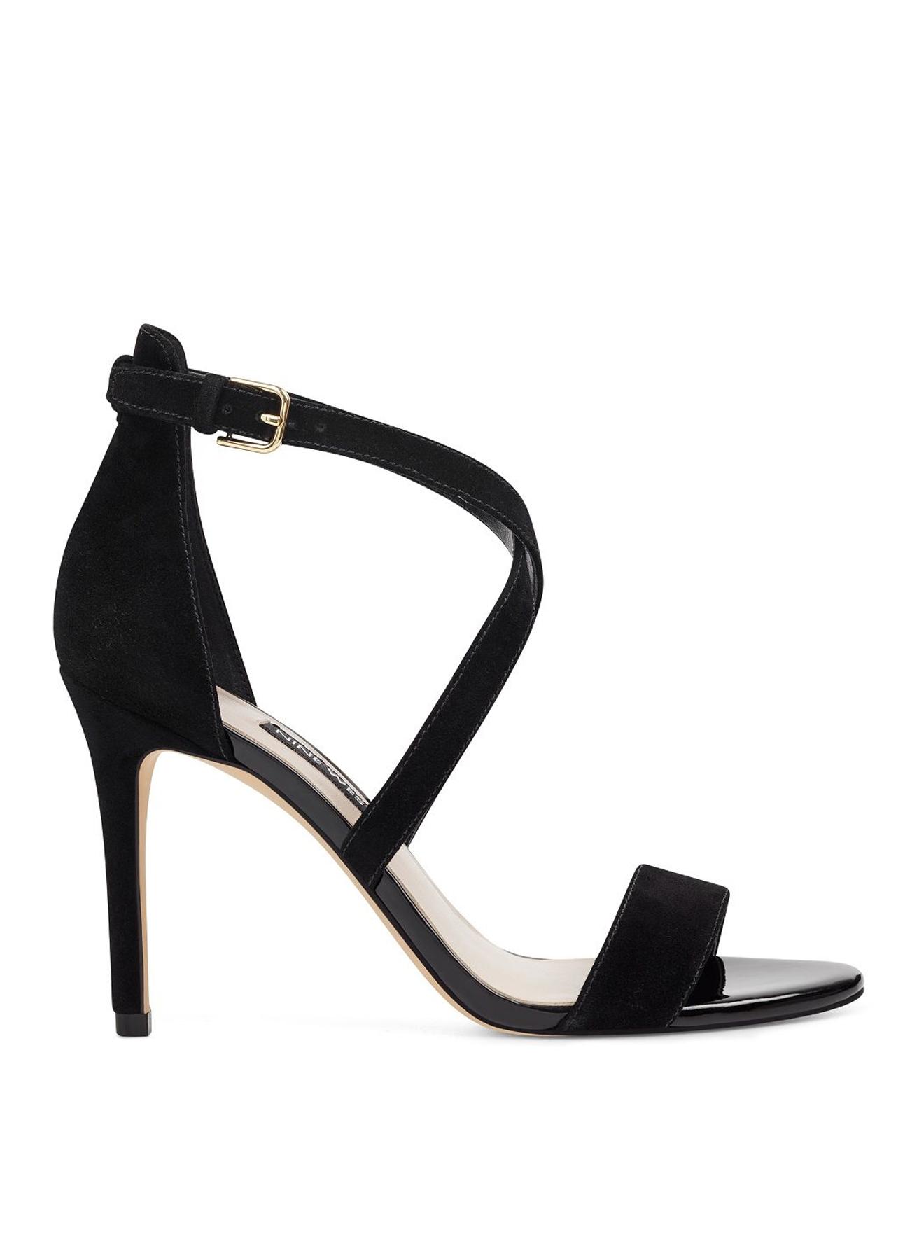 39 Siyah Nine West Abiye Topuklu Ayakkabı 5002311651001 & Çanta Kadın