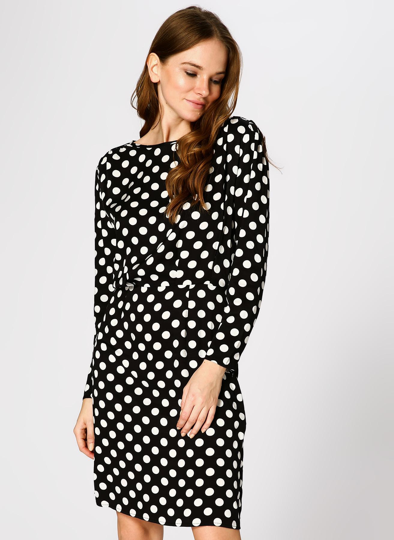 190f8dace7a81 Koton Puantiyeli Siyah-Beyaz Elbise 34 5002311857001 Fiyatları ...