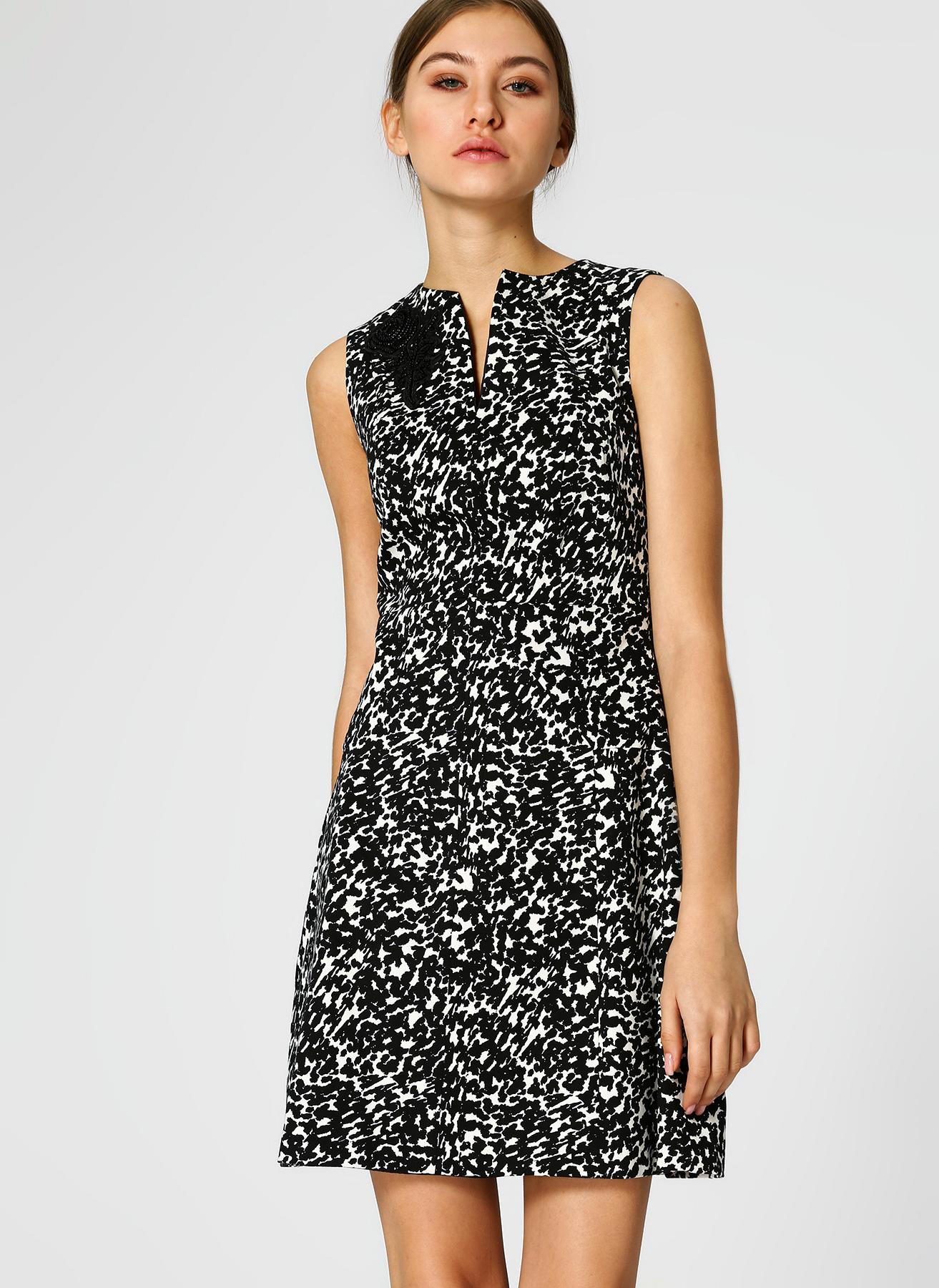 b80ede864294a Koton Taş İşlemeli Siyah-Beyaz Elbise 38 5002311861003 Fiyatları ...