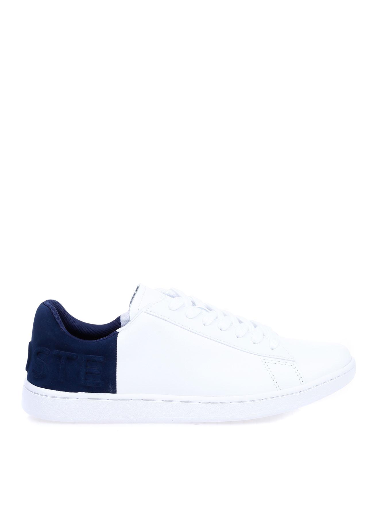 Lacoste Kadın Deri Beyaz-Lacivert Sneaker 39 5002312558004 Ürün Resmi