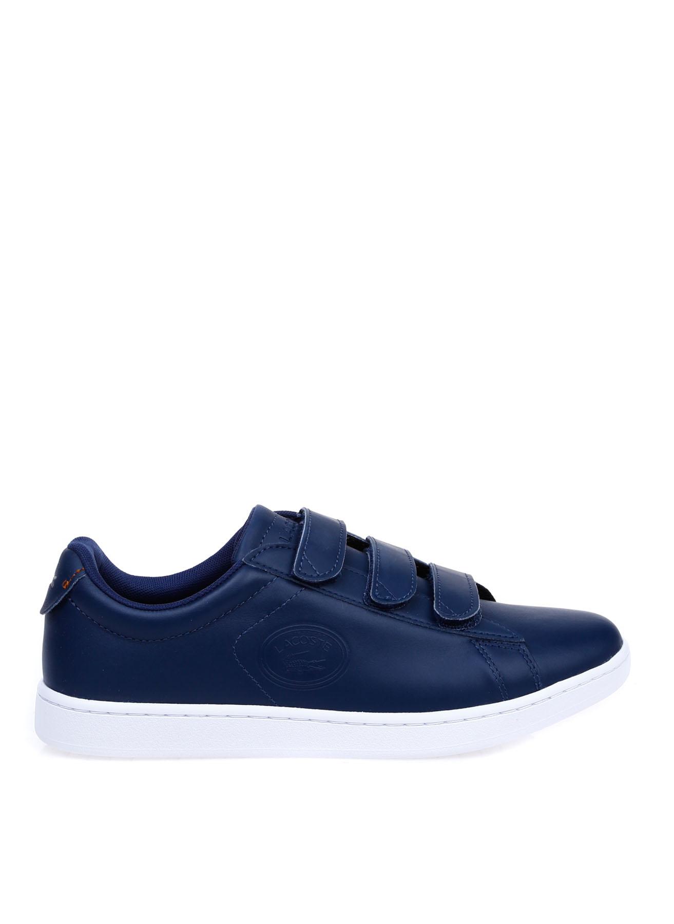 Lacoste Kadın Deri Cırtcırtlı Lacivert-Beyaz Sneaker 36 5002312563001 Ürün Resmi