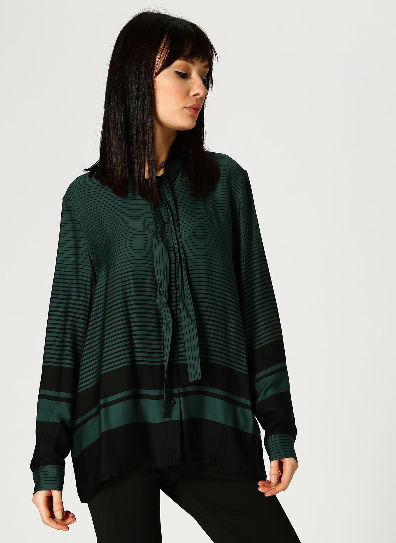 Pierre Cardin Çizgili Zümrüt Yeşili-Siyah Gömlek 36 5002313394003 Ürün Resmi