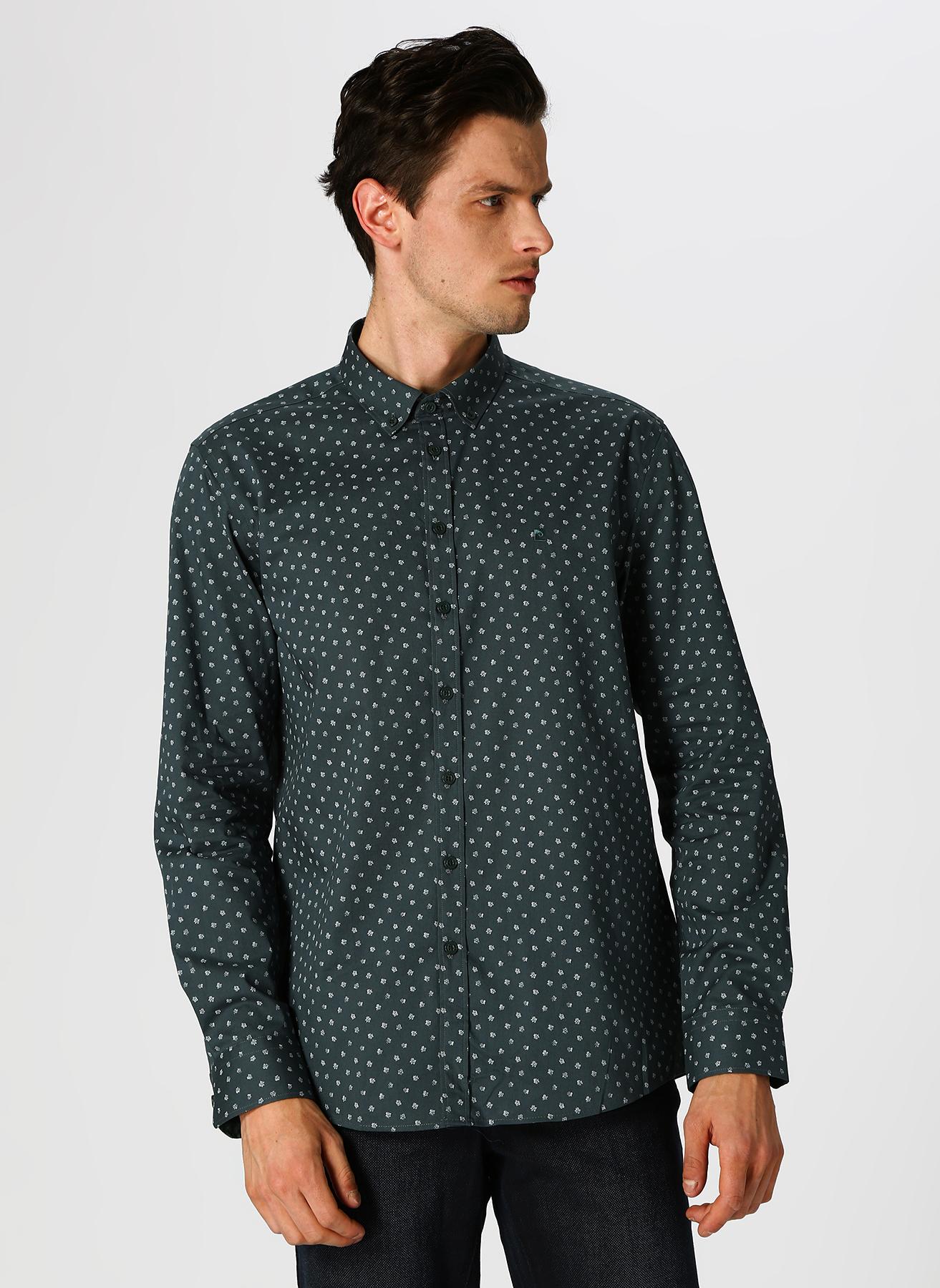 Pierre Cardin Desenli Yeşil Gömlek 2XL 5002313405001 Ürün Resmi