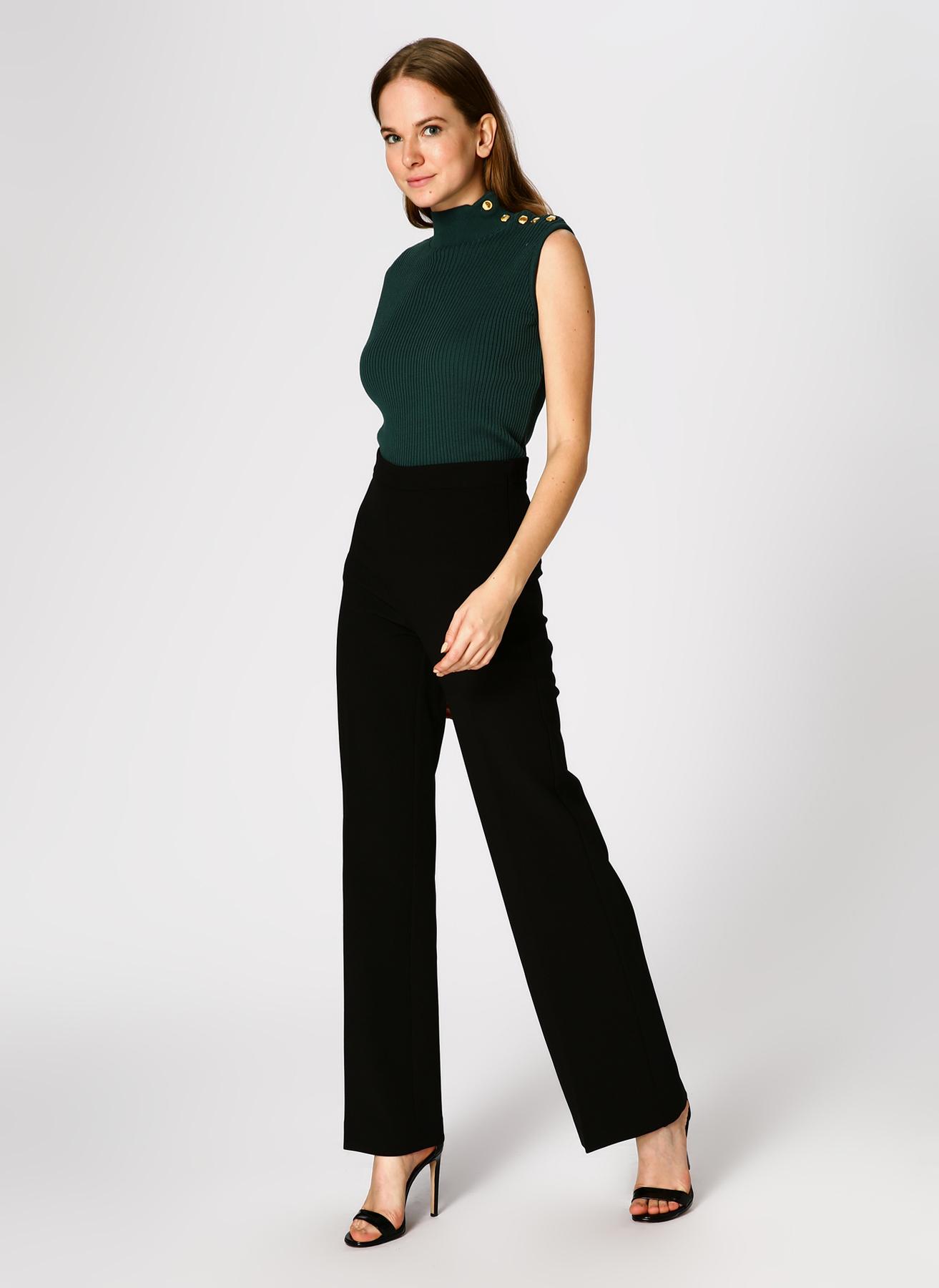 Koton İspanyol Paça Siyah Pantolon 40 5002314175004 Ürün Resmi