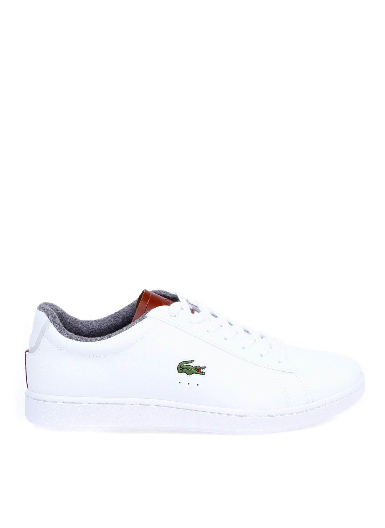 Lacoste Erkek Deri Beyaz-Kahve Lifestyle Ayakkabı 42 5002314249004 Ürün Resmi
