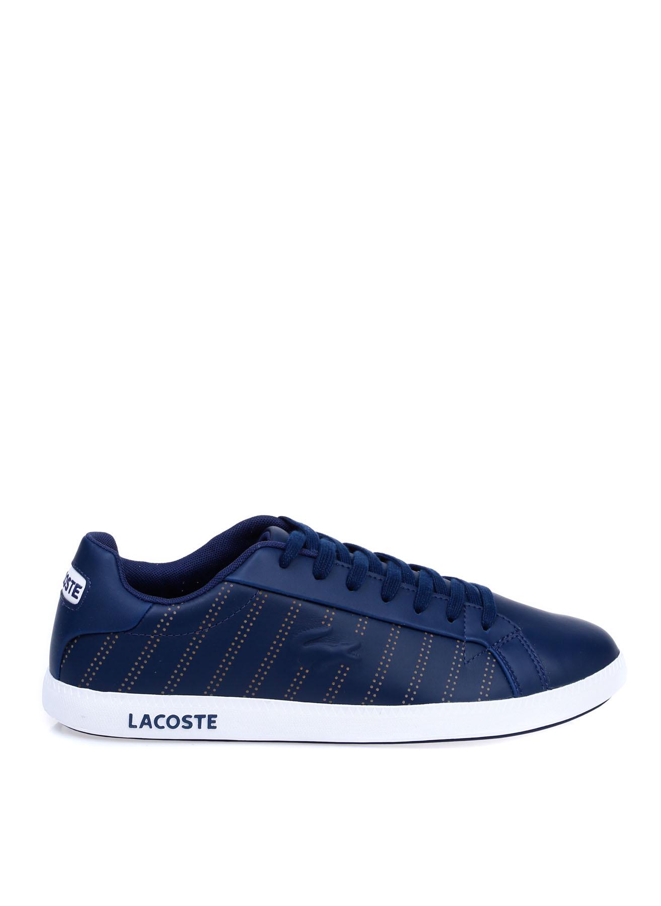 Lacoste Erkek Deri Lacivert-Beyaz Lifestyle Ayakkabı 43 5002314253005 Ürün Resmi